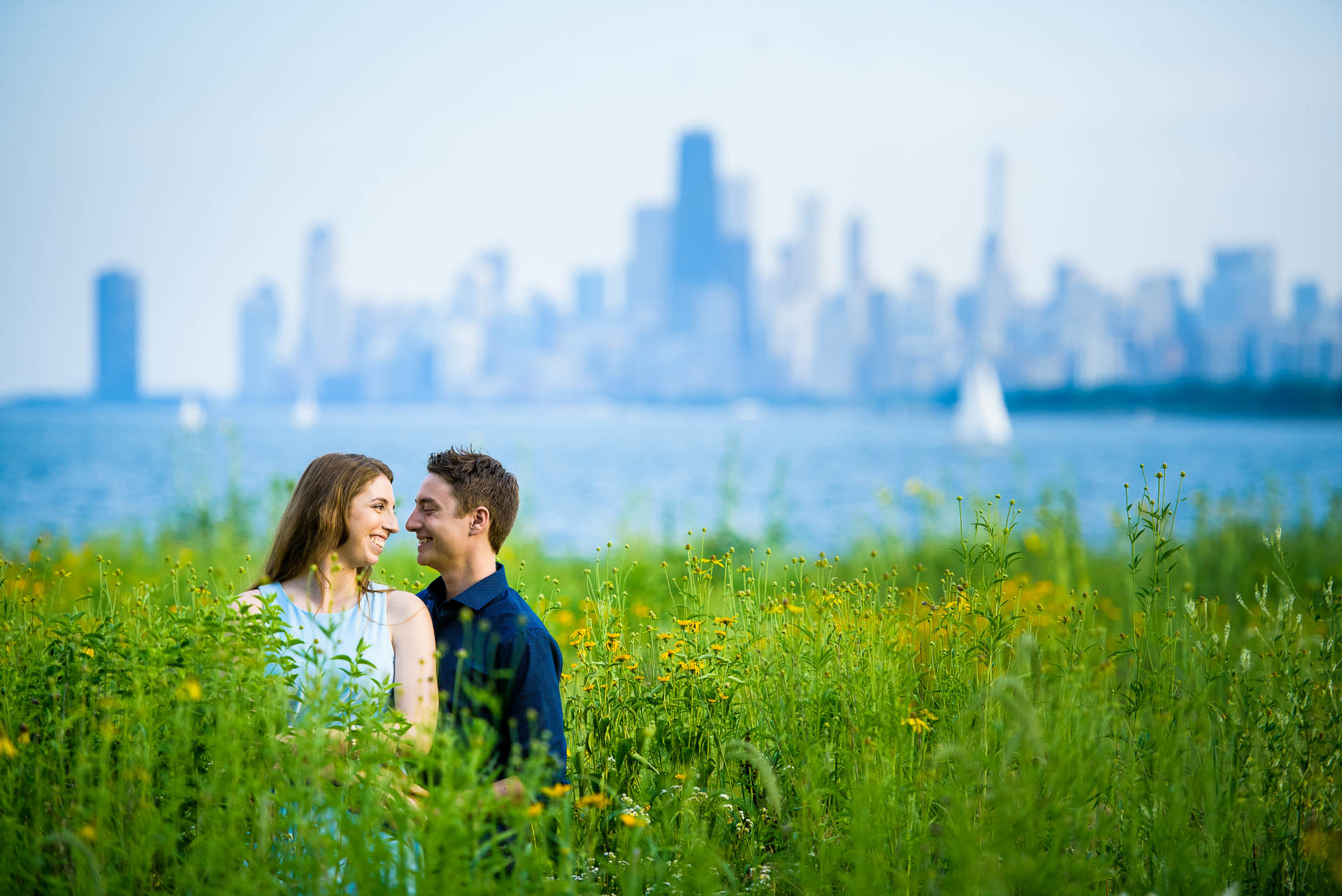 Montrose Harbor Chicago engagement session.