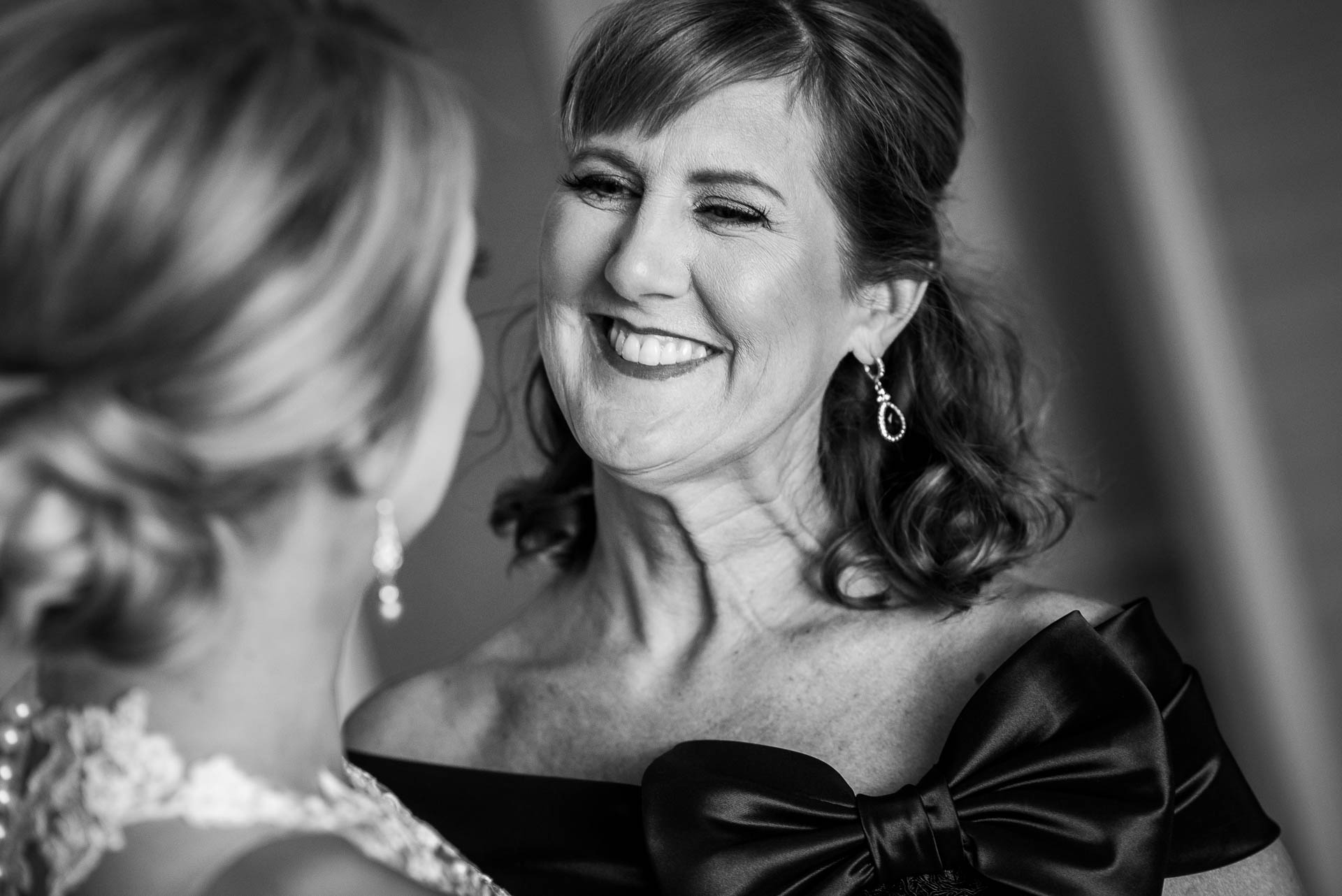 Mother and bride share a moment before a Mid America Club wedding Chicago.