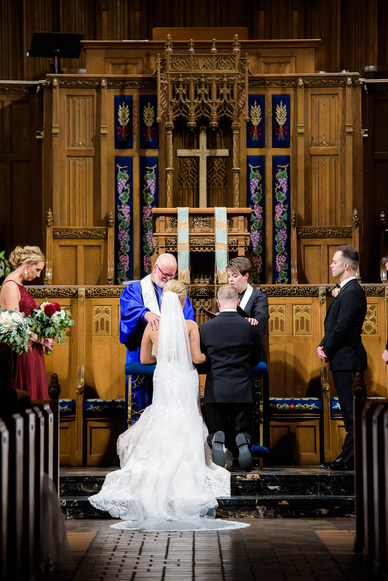 Wedding ceremony at Fourth Presbyterian Church in Chicago.