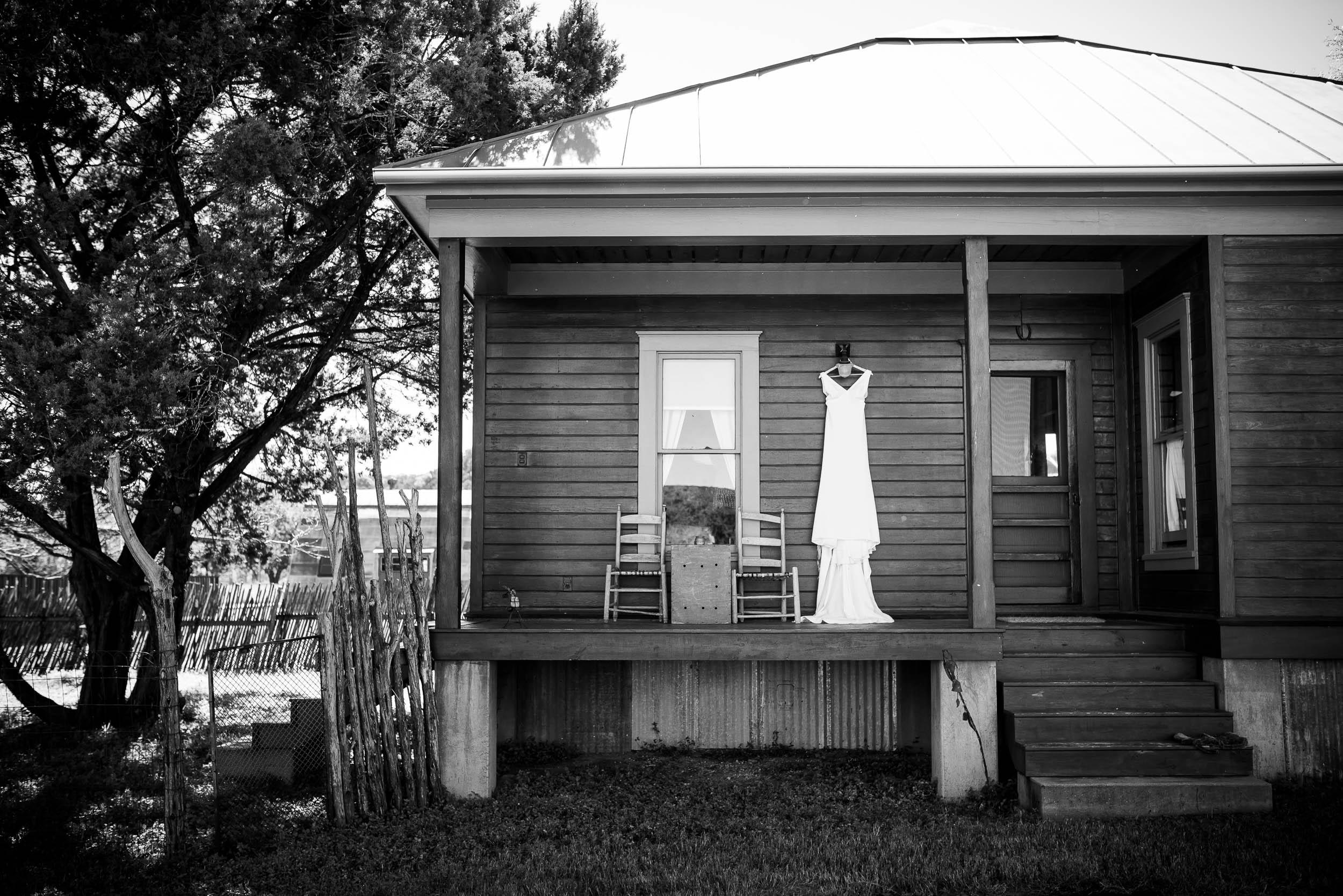 Wedding dress photo during a Montesino Ranch wedding Austin, Texas.