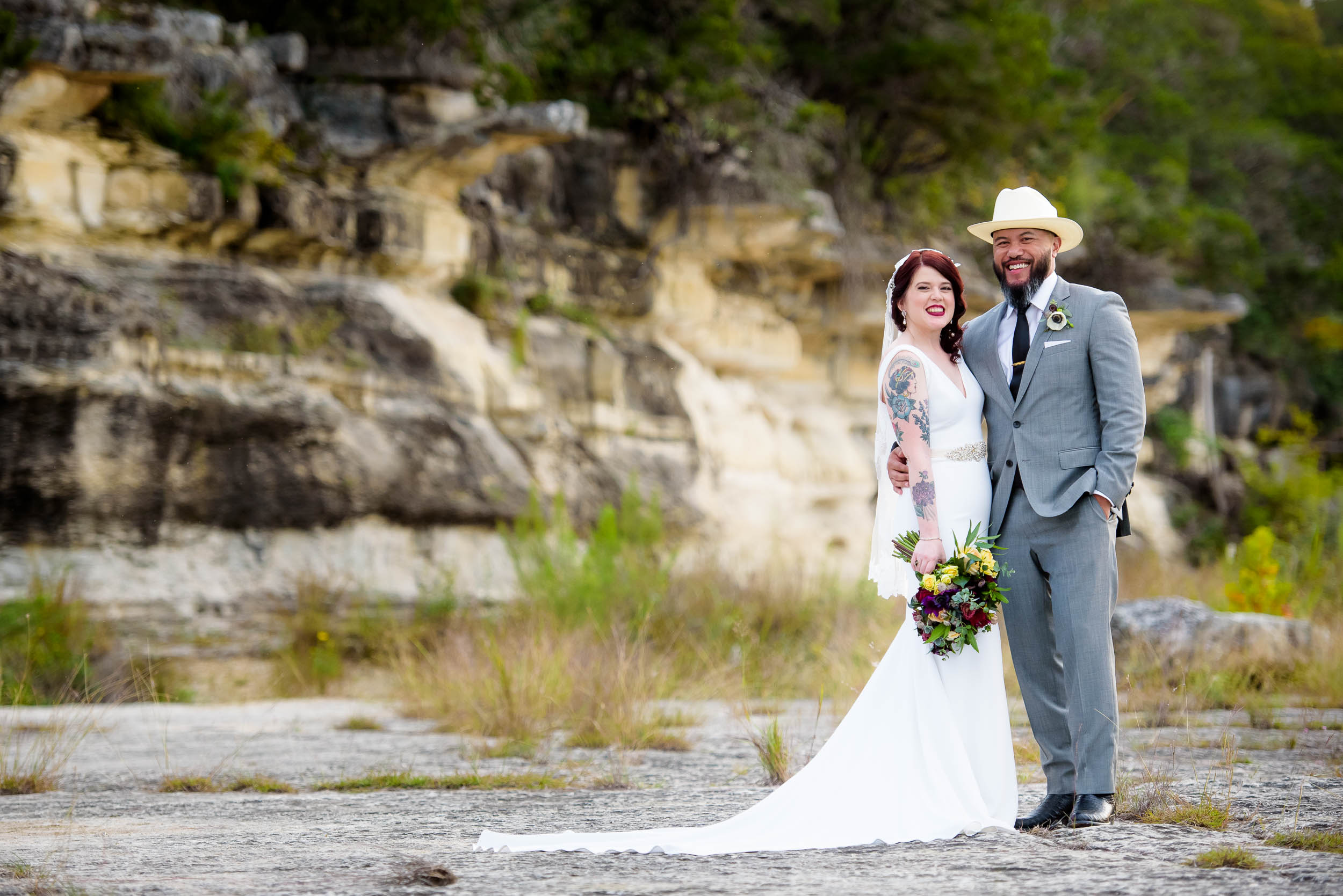 Bride and groom portrait during a Montesino Ranch wedding Austin, Texas.
