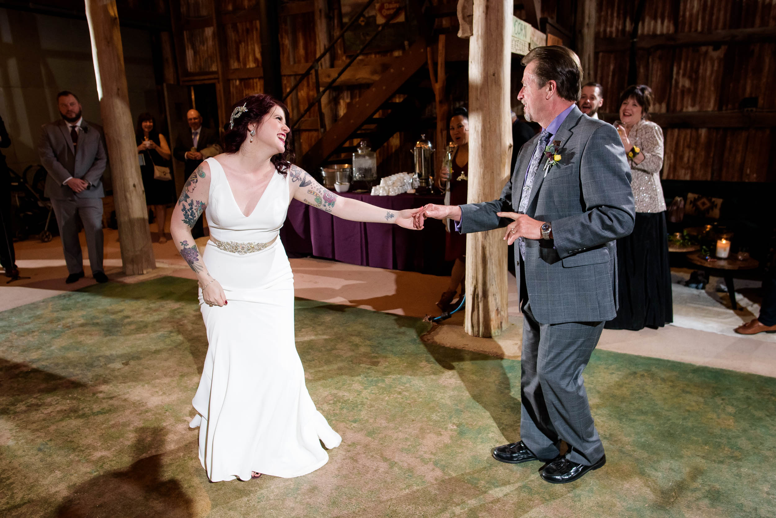 Father daughter dance during a Montesino Ranch wedding Austin, Texas.