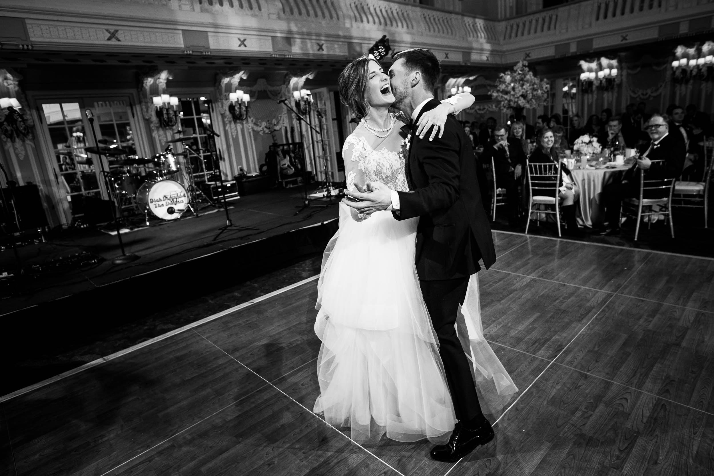 First dance during a Blackstone Chicago wedding.