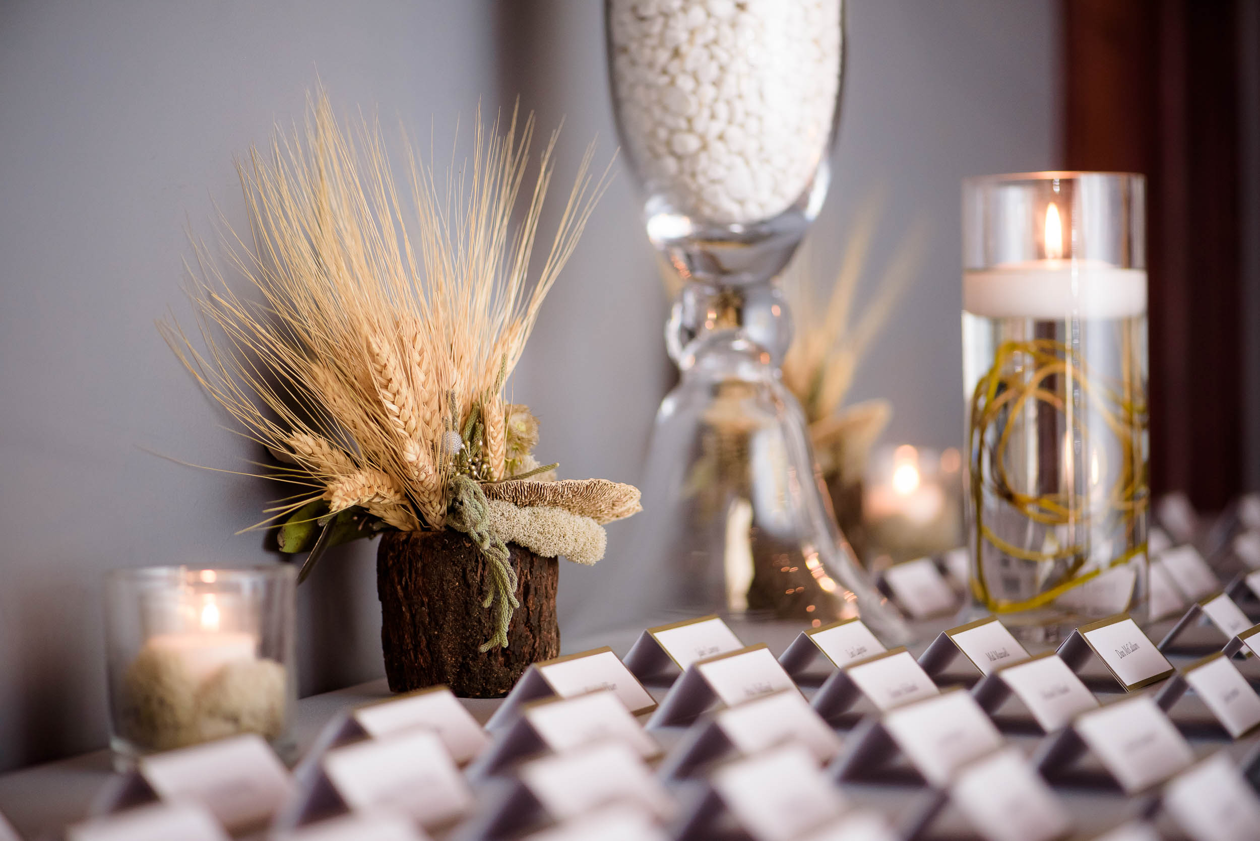 Place card photo during a Loft on Lake Chicago wedding.