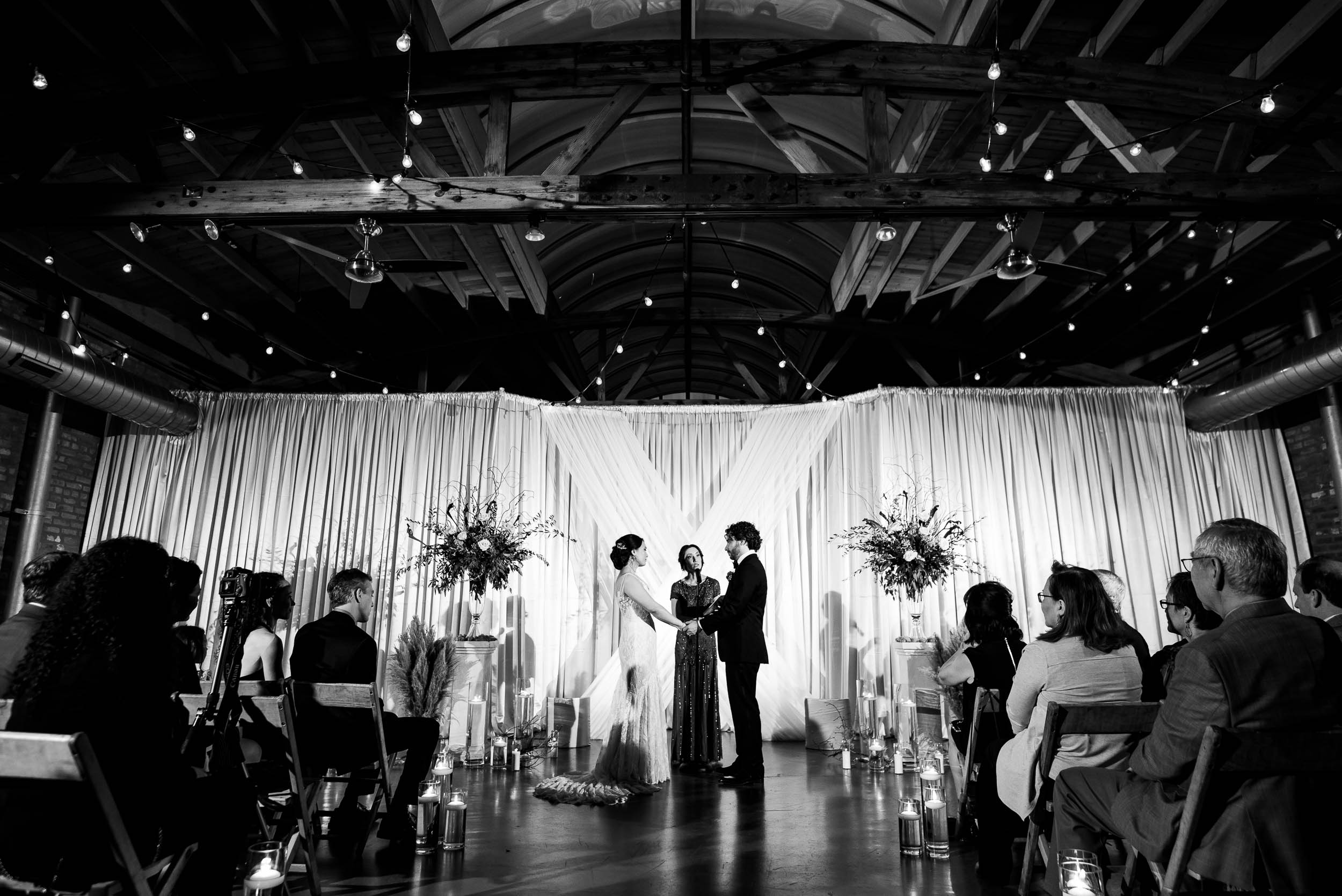 Ceremony during a Loft on Lake Chicago wedding.