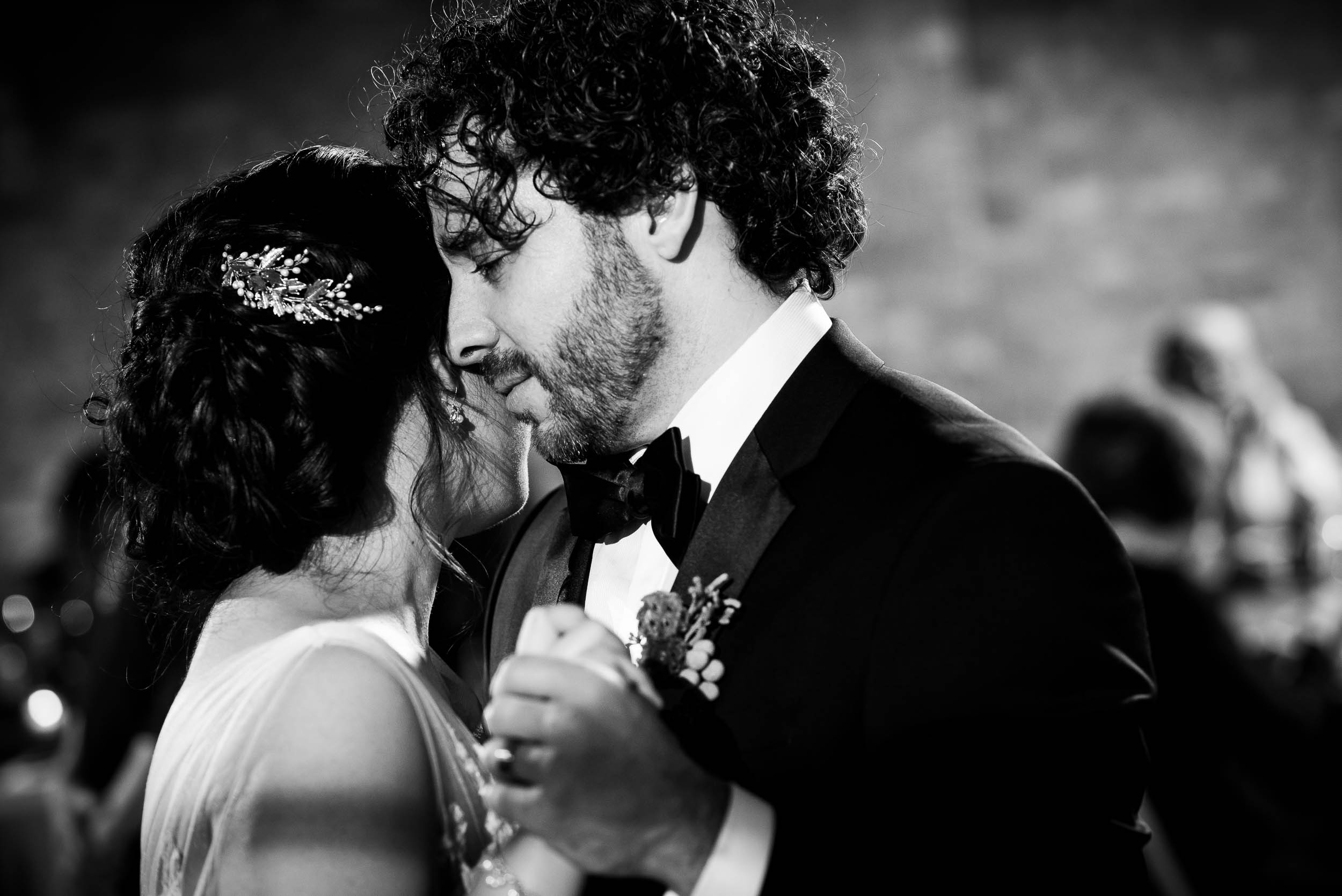 Intimate first dance photo during a Loft on Lake Chicago wedding.