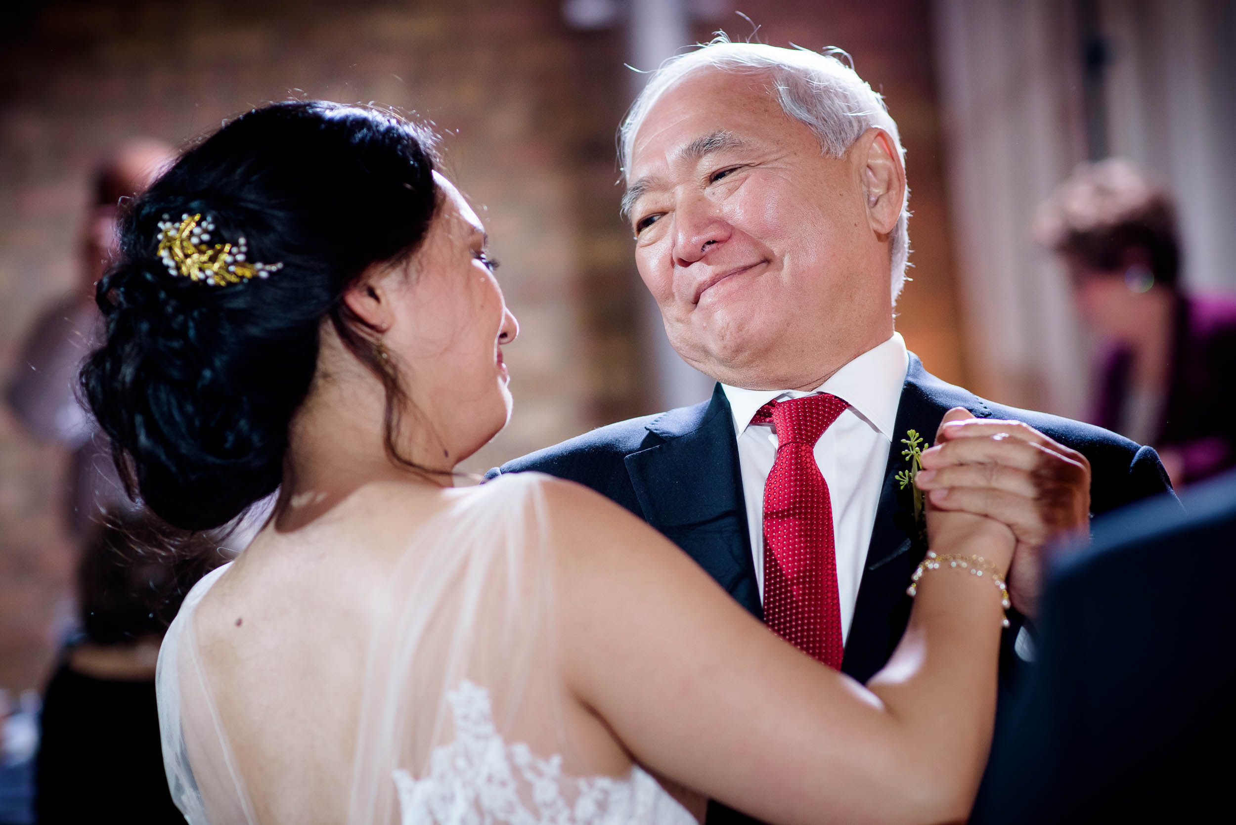 Father daughter dance during a Loft on Lake Chicago wedding.