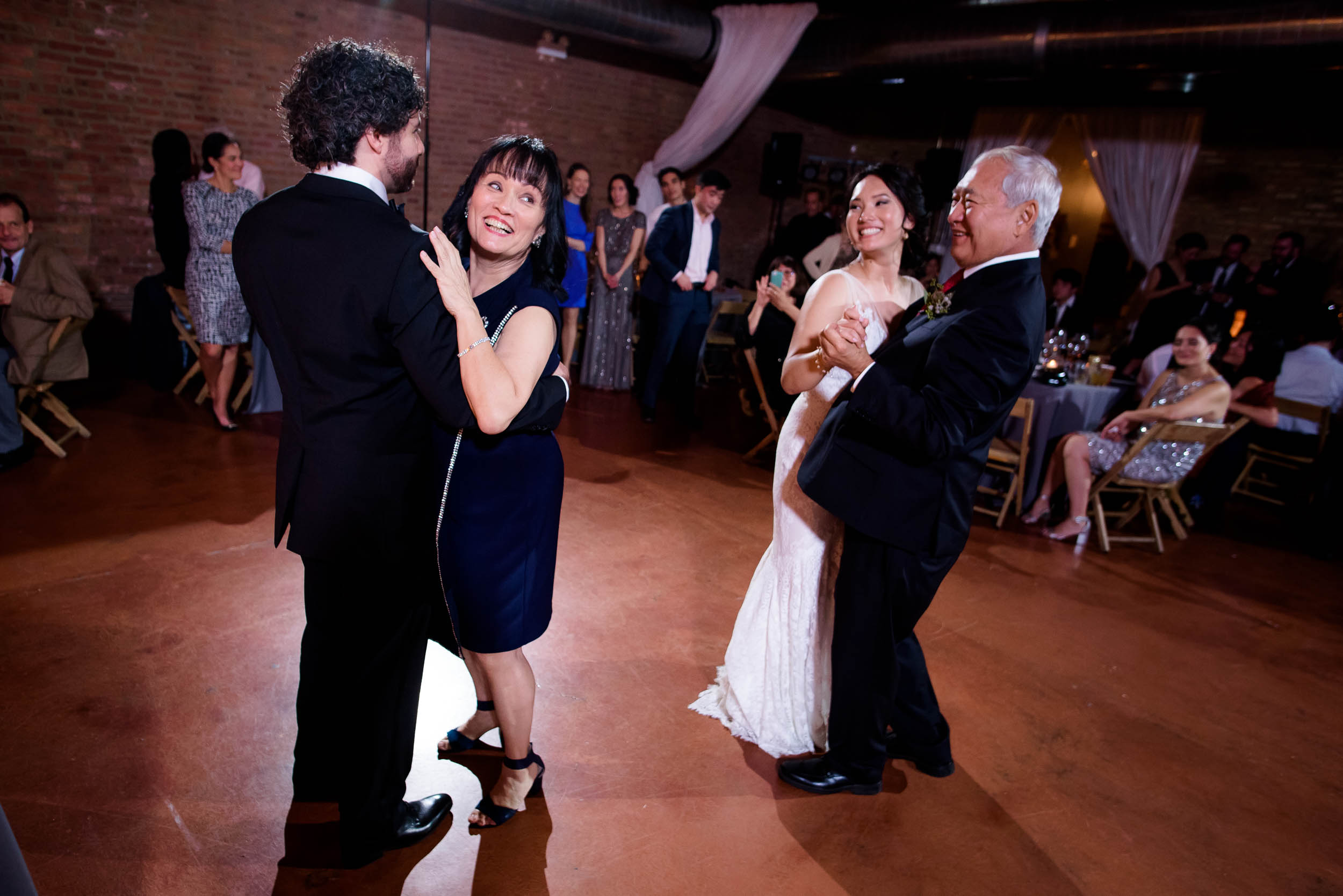 Parent dance during a Loft on Lake Chicago wedding.
