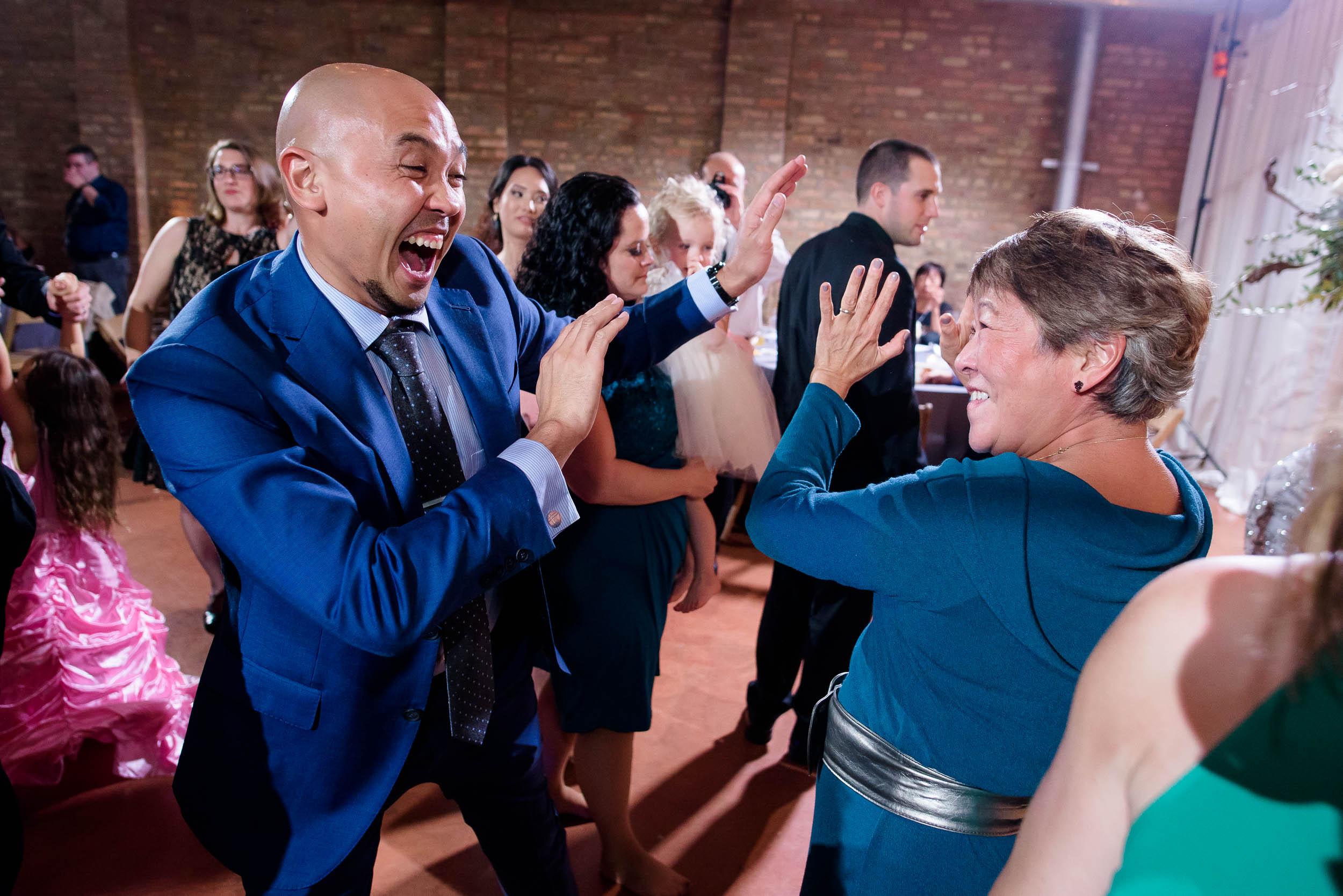 Dancing during a Loft on Lake Chicago wedding.