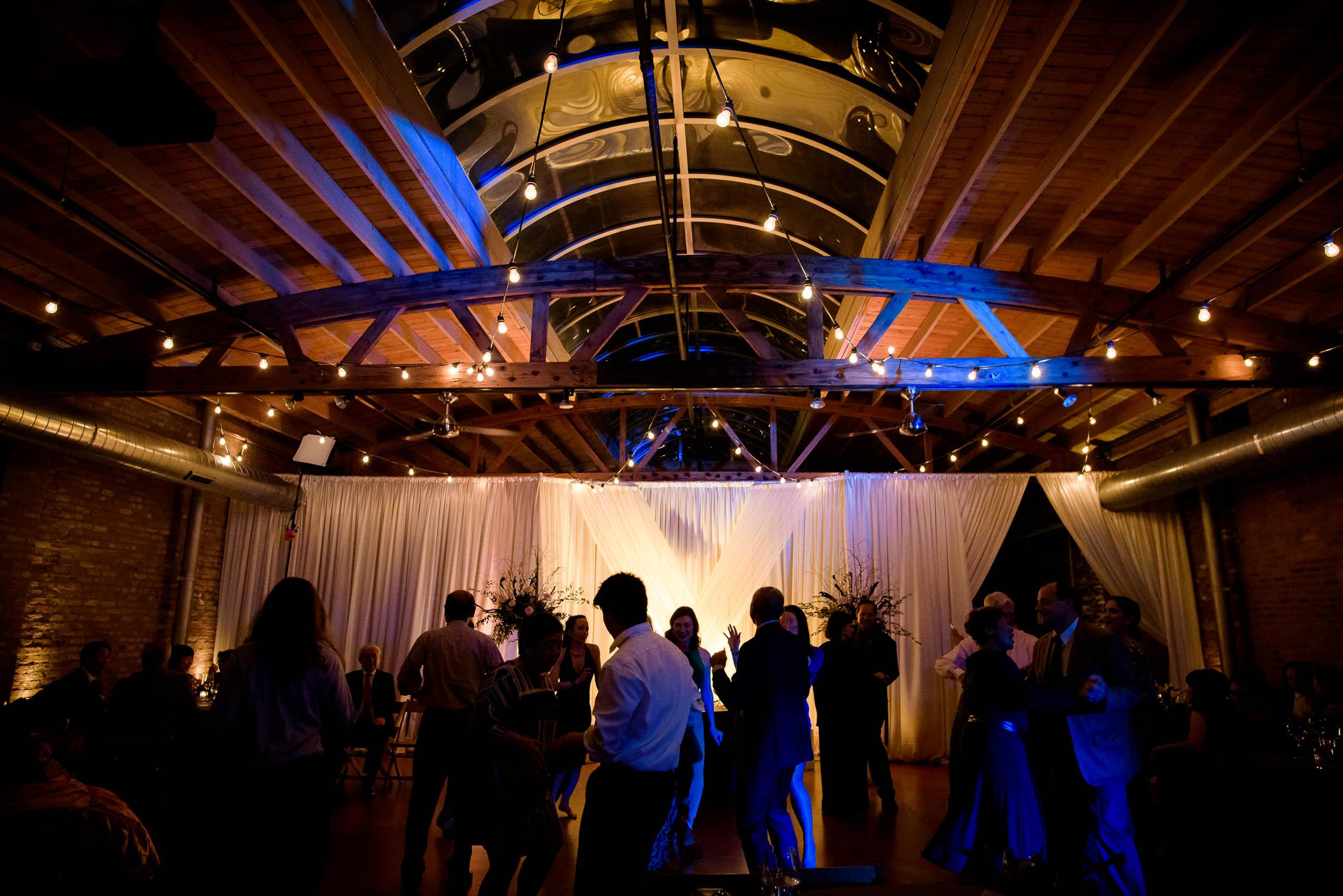 Reception during a Loft on Lake Chicago wedding.