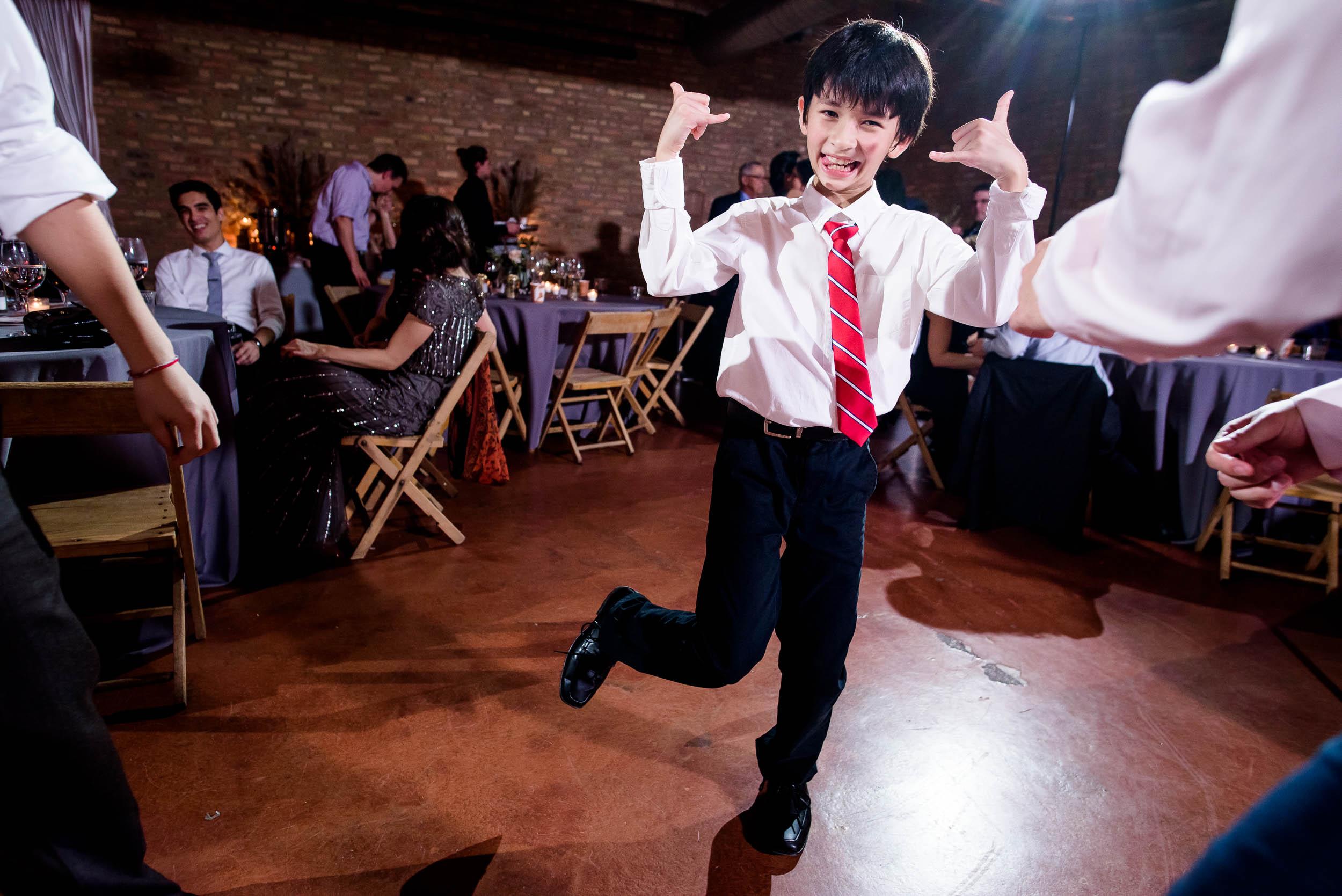 Dance floor photo during a Loft on Lake Chicago wedding.