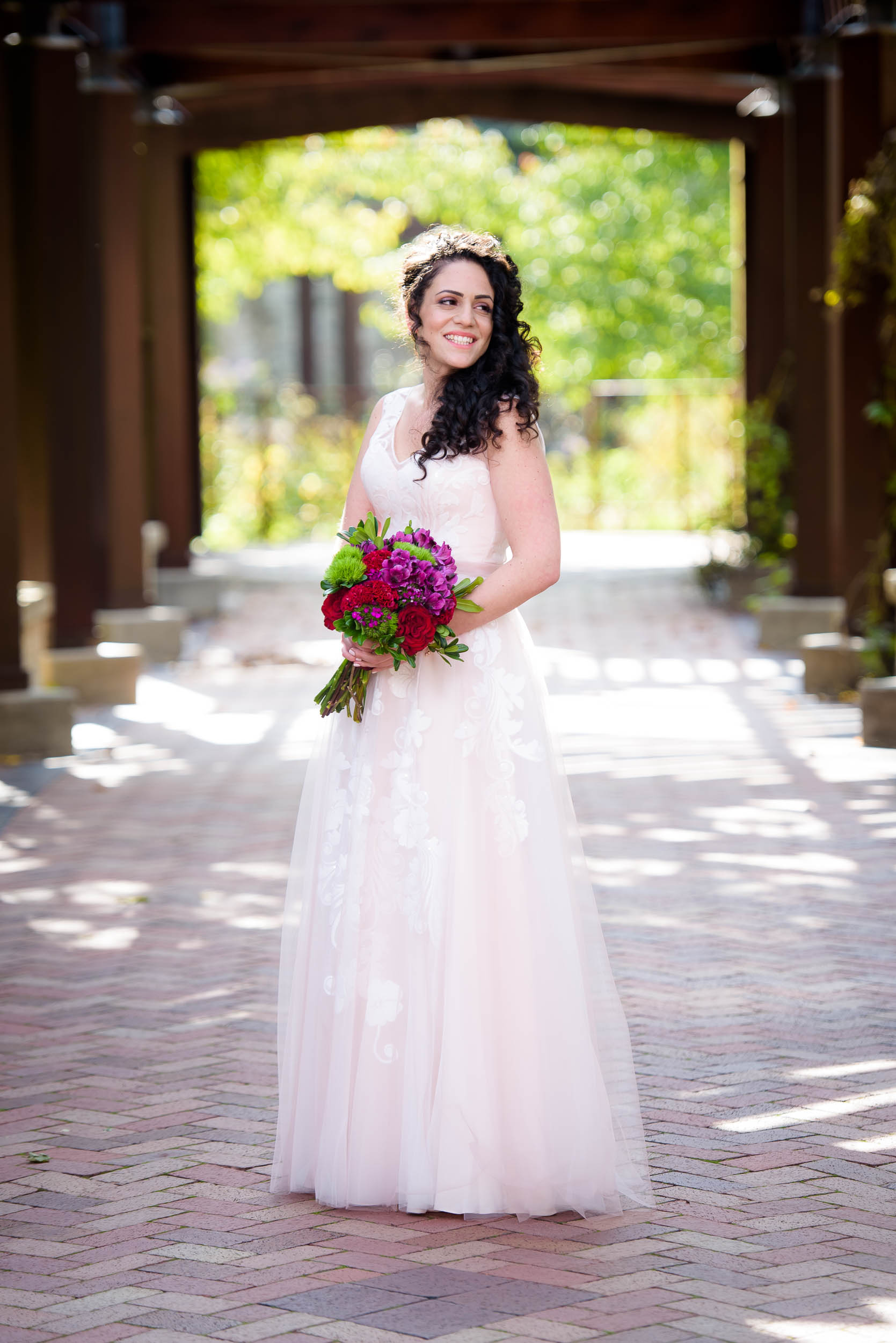 Bridal portrait during an Independence Grove Chicago wedding.