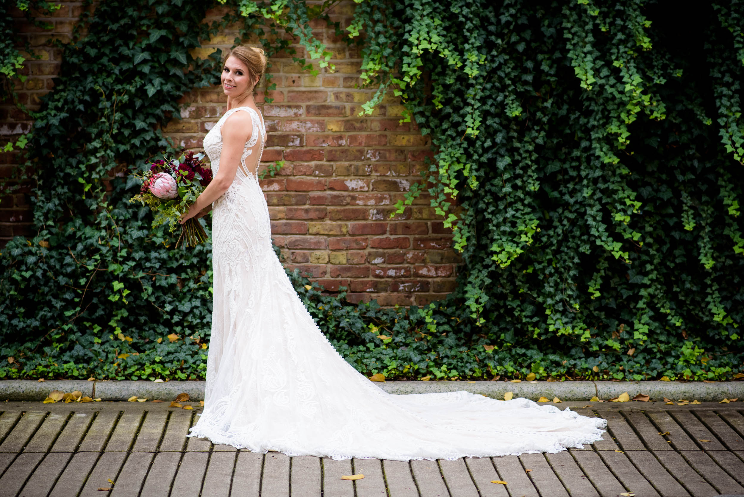 Bridal portrait during a Glessner House Chicago wedding.