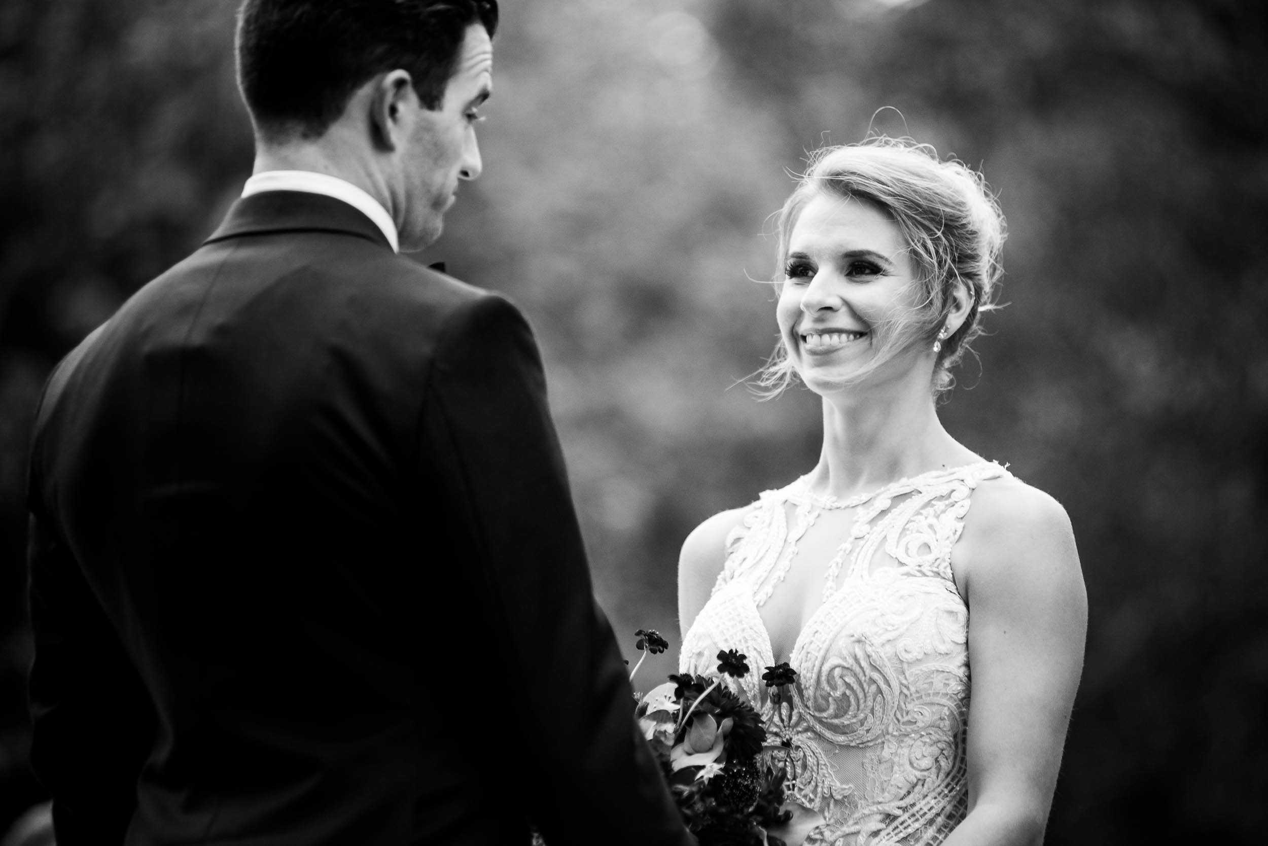 Bride and groom during a Glessner House Chicago wedding ceremony.