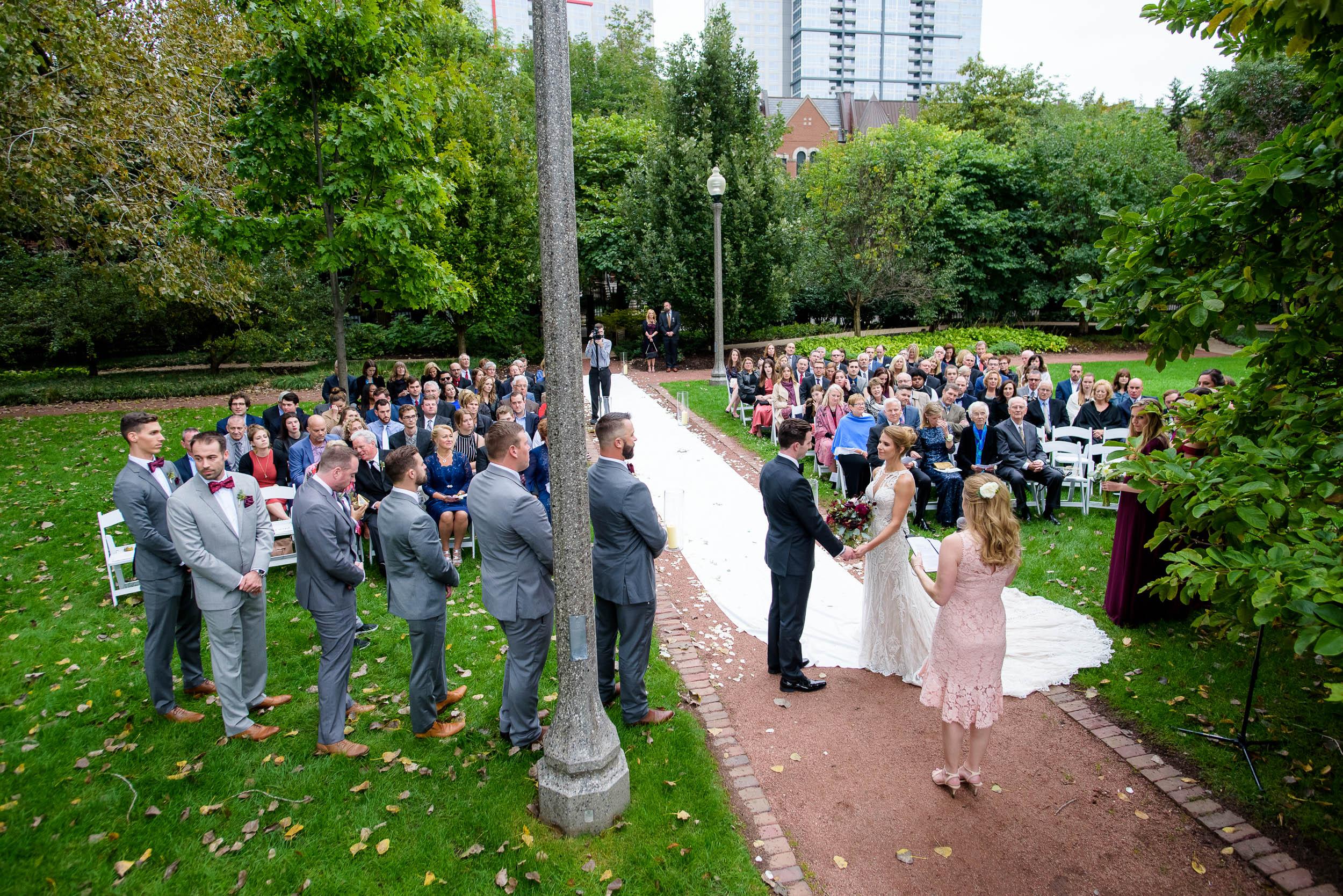 Chicago Women's Park wedding ceremony.