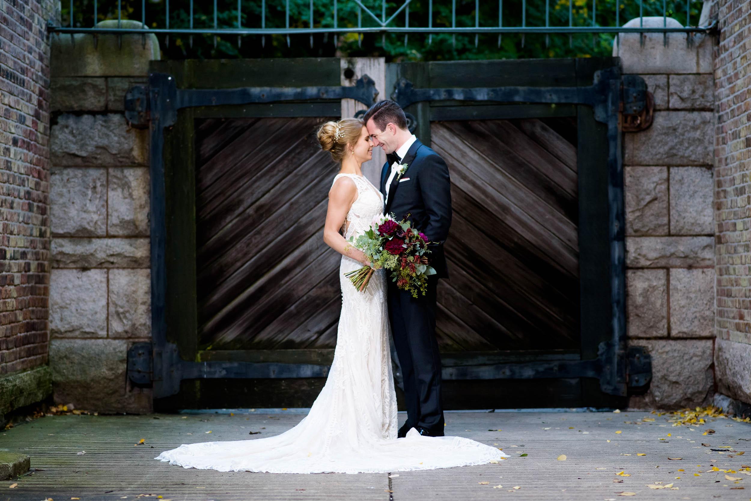 Wedding portrait during a Glessner House Chicago wedding.