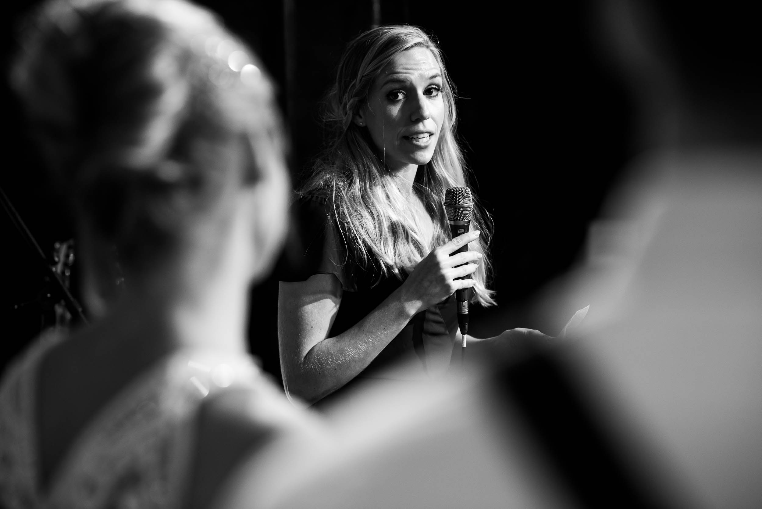 Maid of honor speech during a Glessner House Chicago wedding reception.