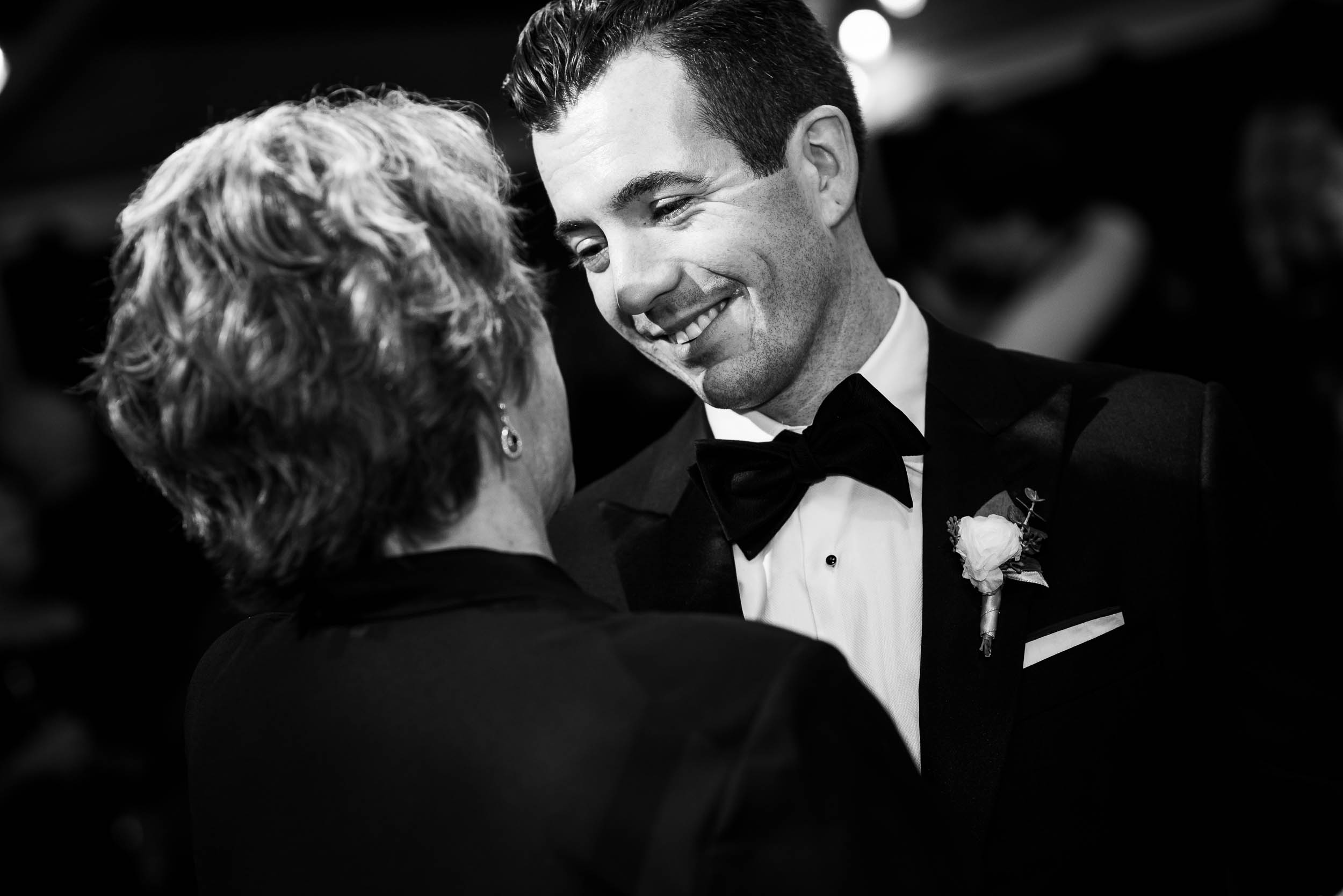 Mother son dance during a Glessner House Chicago wedding reception.