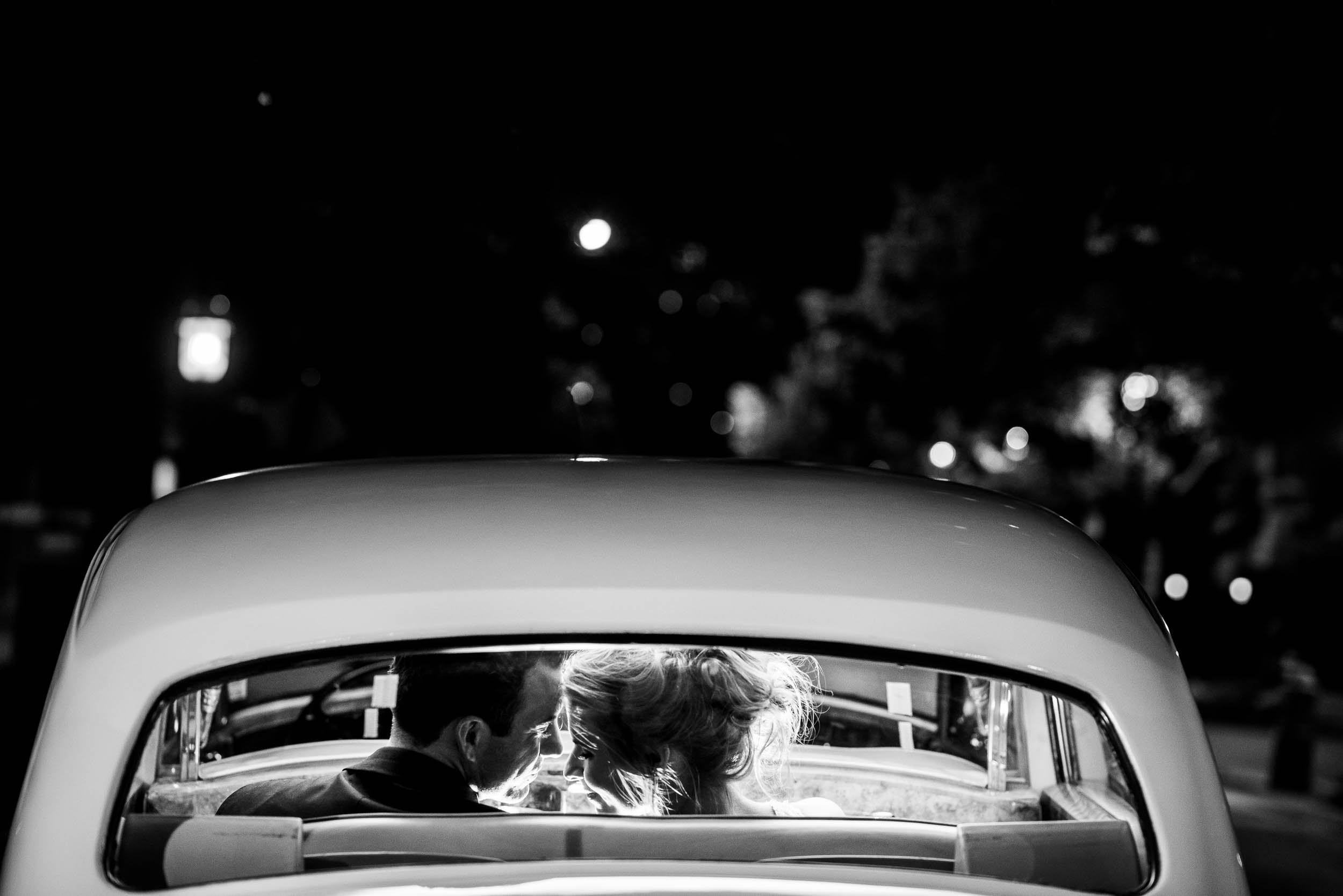 Night portrait during a Glessner House Chicago wedding reception.