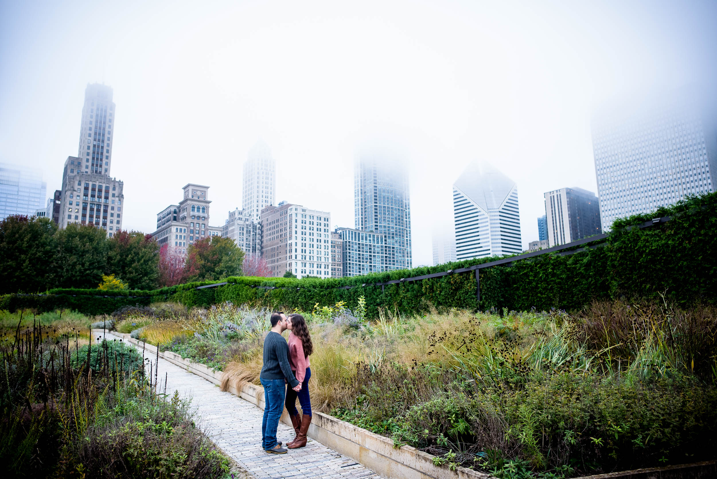 Downtown Chicago engagement session captured by J. Brown Photography. See more engagement photo ideas at jbrownphotography.com!