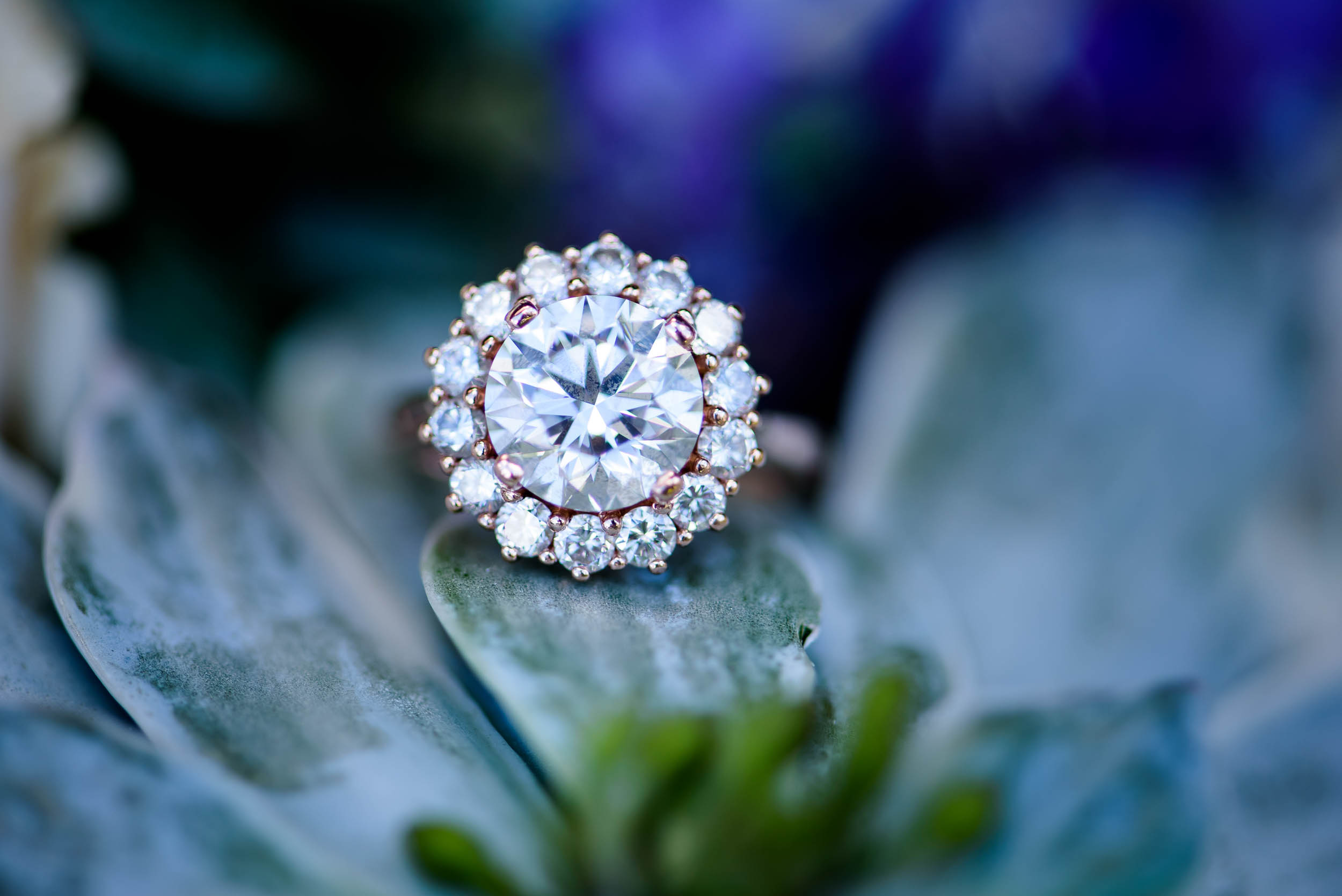 Engagement ring photo for Grand Geneve Resort Fall Chicago Wedding captured by J. Brown Photography. Visit jbrownphotography.com for more wedding inspiration!