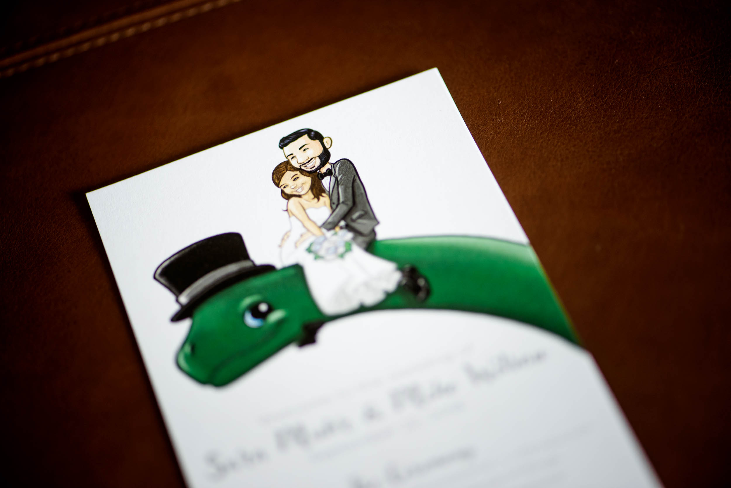 Fun wedding stationery design for Grand Geneve Resort Fall Chicago Wedding captured by J. Brown Photography. Visit jbrownphotography.com for more wedding inspiration!
