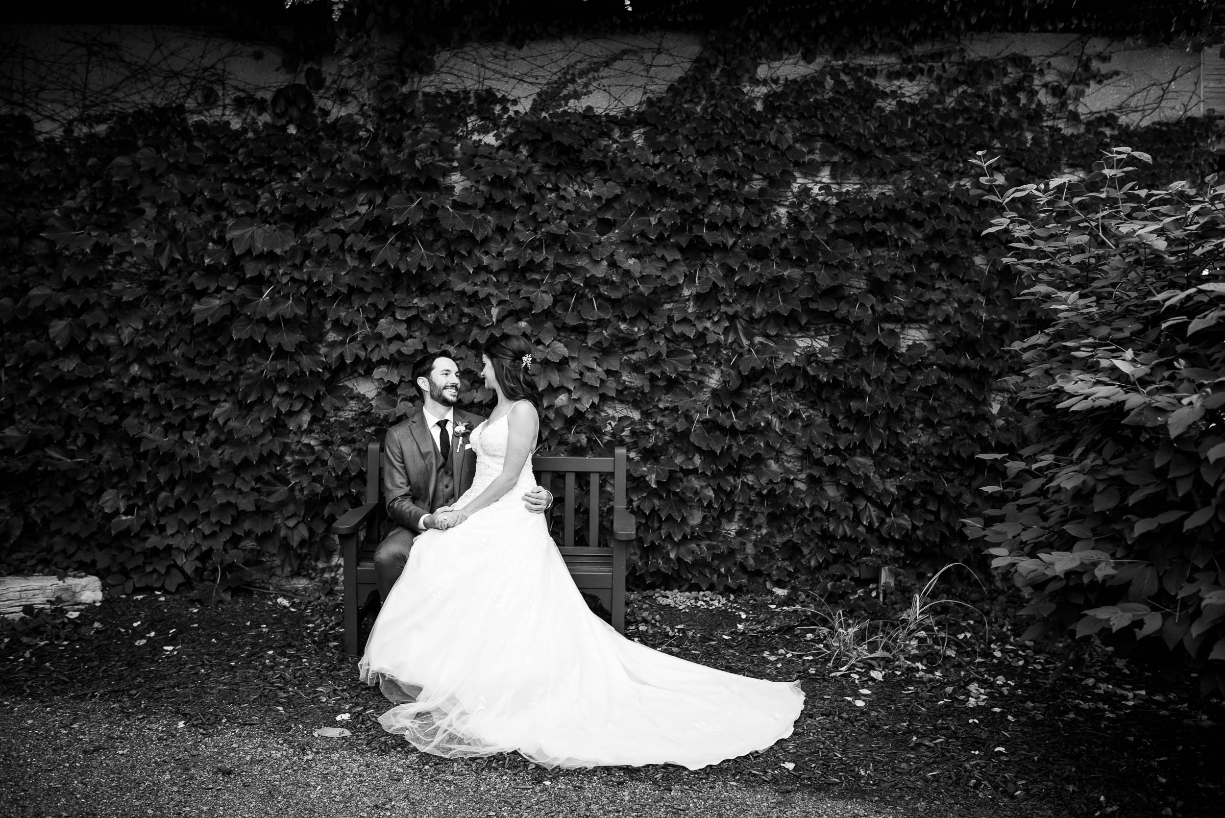 Bride and groom outdoor wedding photos at Grand Geneve Resort Fall Chicago Wedding captured by J. Brown Photography. Visit jbrownphotography.com for more wedding inspiration!