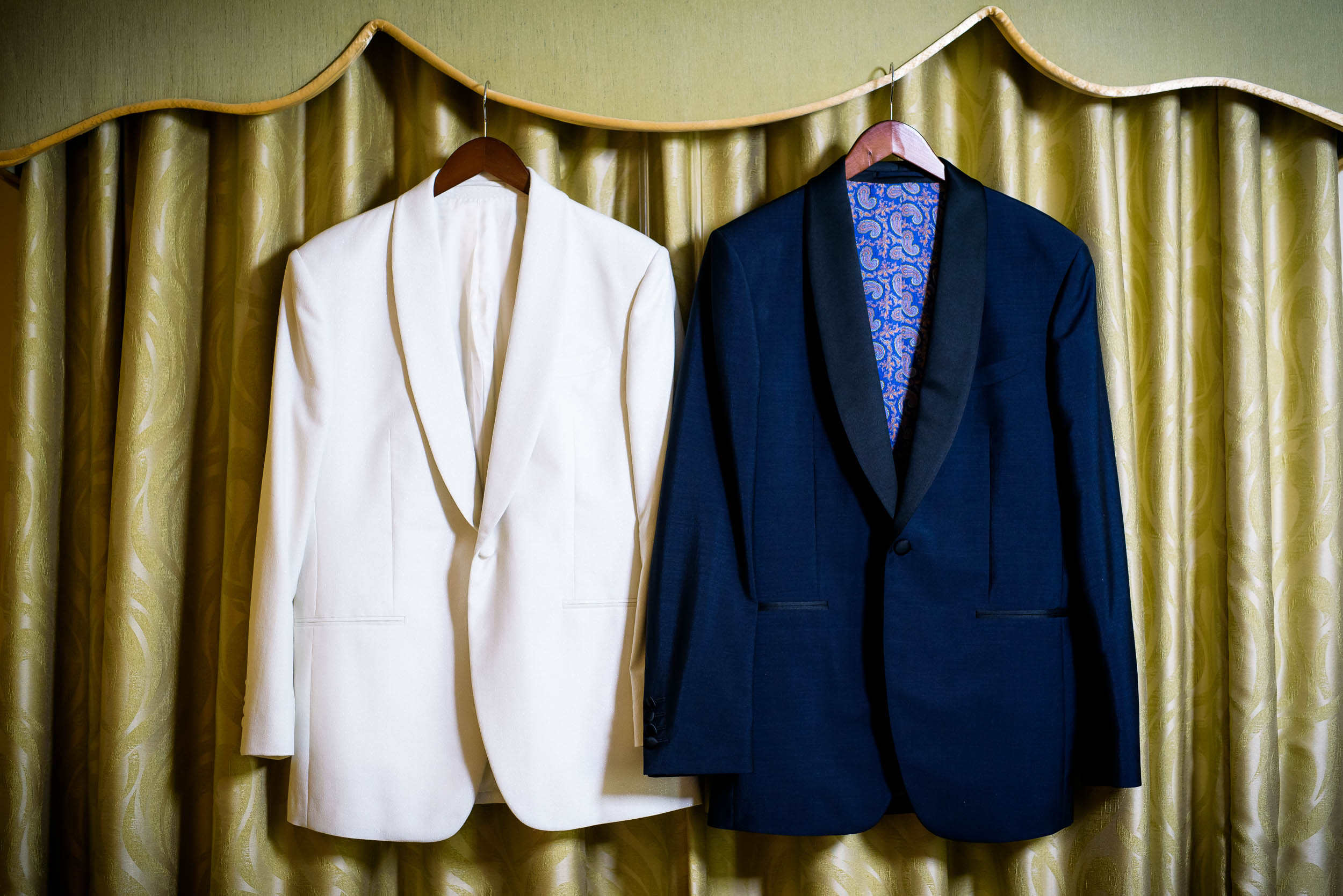 Grooms' suits for luxurious fall wedding at the Chicago Symphony Center captured by J. Brown Photography. See more wedding ideas at jbrownphotography.com!