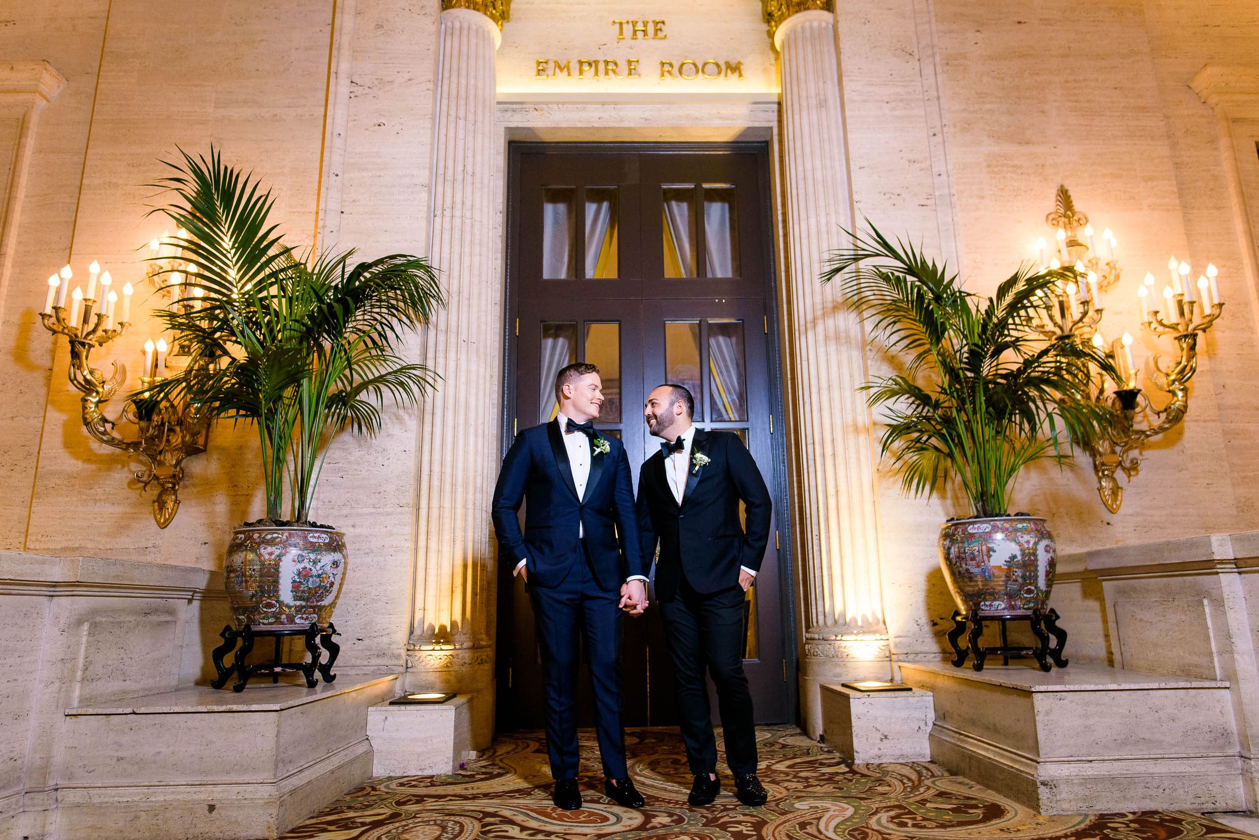 Stylish wedding tuxedos for luxurious fall wedding at the Chicago Symphony Center captured by J. Brown Photography. See more wedding ideas at jbrownphotography.com!