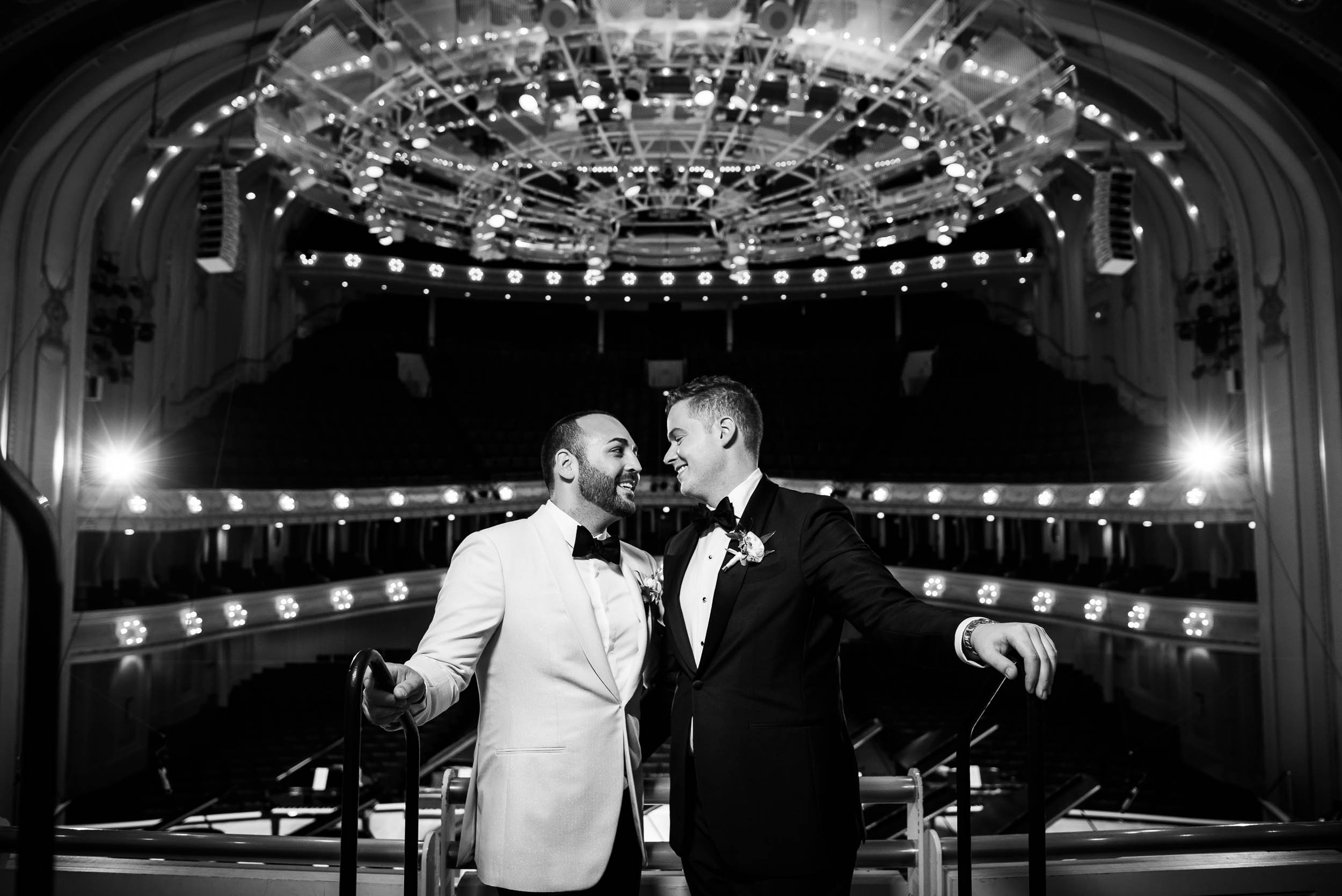 Same-sex, luxurious fall wedding at the Chicago Symphony Center captured by J. Brown Photography. See more wedding ideas at jbrownphotography.com!
