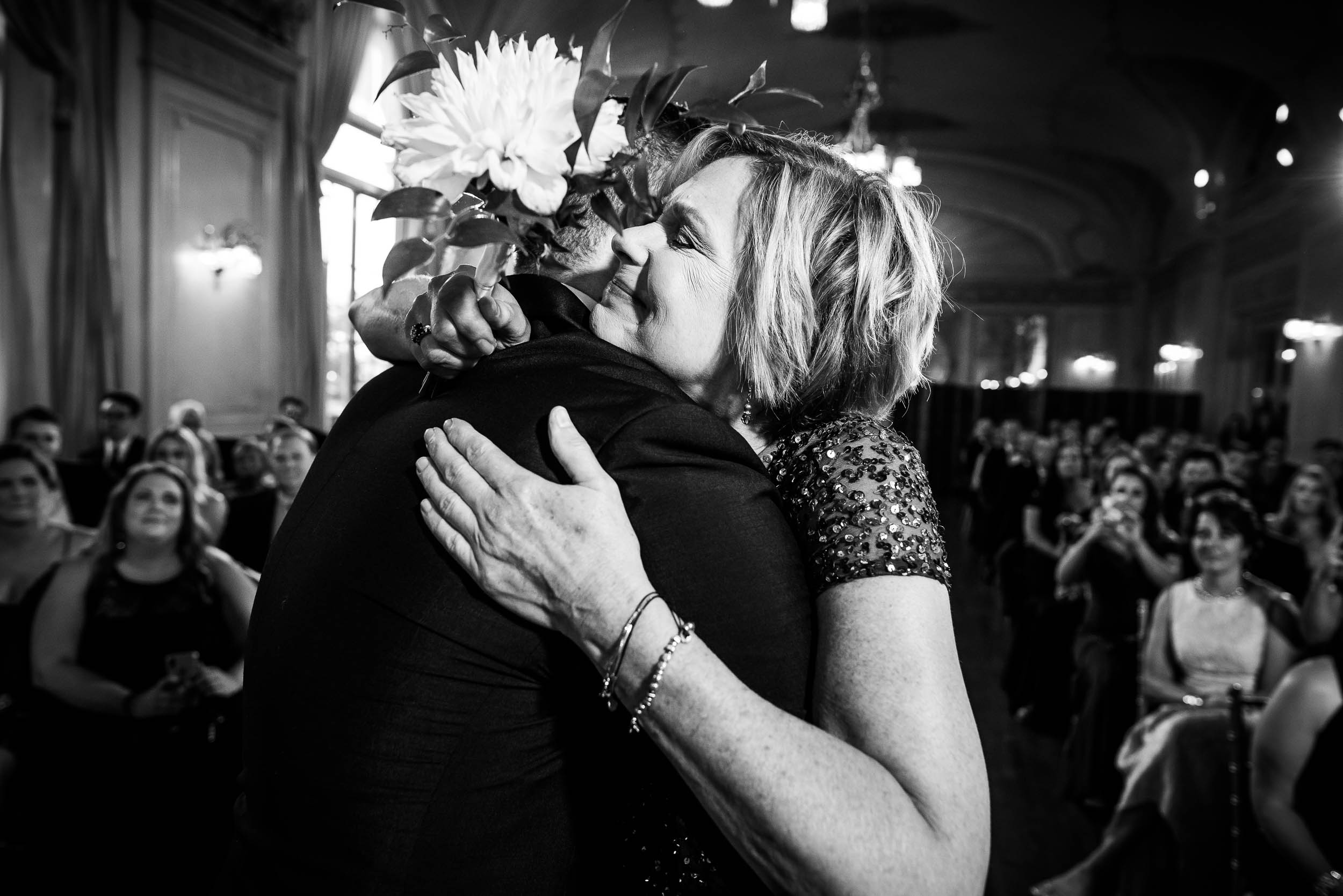 Emotional wedding photos from luxurious fall wedding at the Chicago Symphony Center captured by J. Brown Photography. See more wedding ideas at jbrownphotography.com!