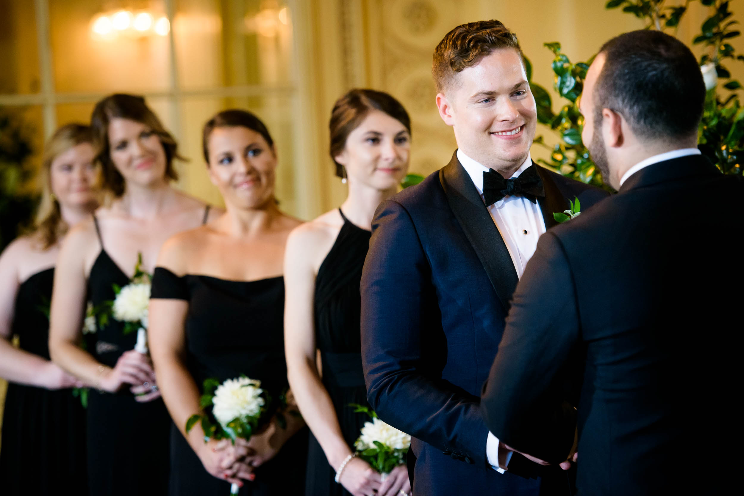 Modern wedding ceremony for luxurious fall wedding at the Chicago Symphony Center captured by J. Brown Photography. See more wedding ideas at jbrownphotography.com!