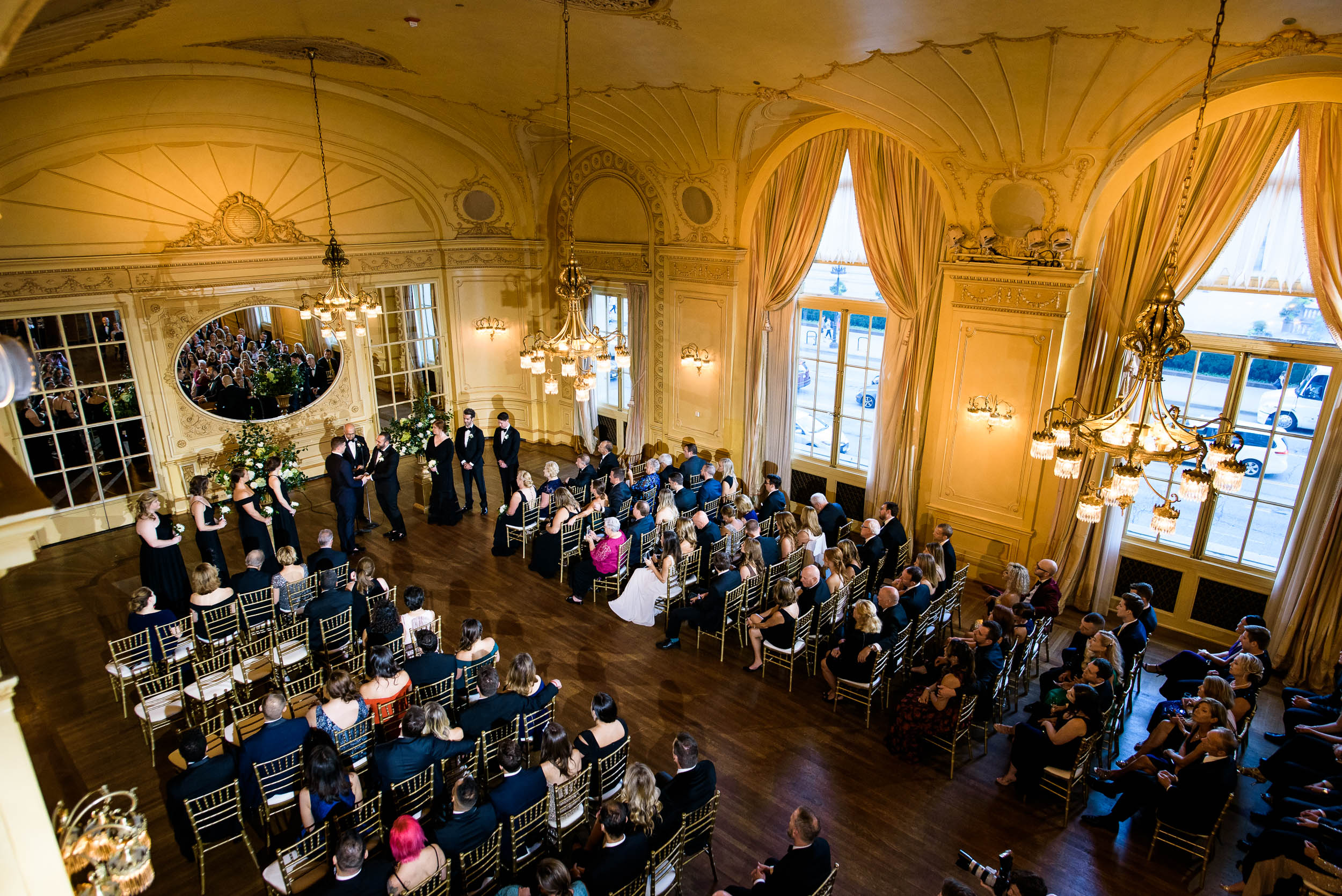 Romantic wedding ceremony for luxurious fall wedding at the Chicago Symphony Center captured by J. Brown Photography. See more wedding ideas at jbrownphotography.com!