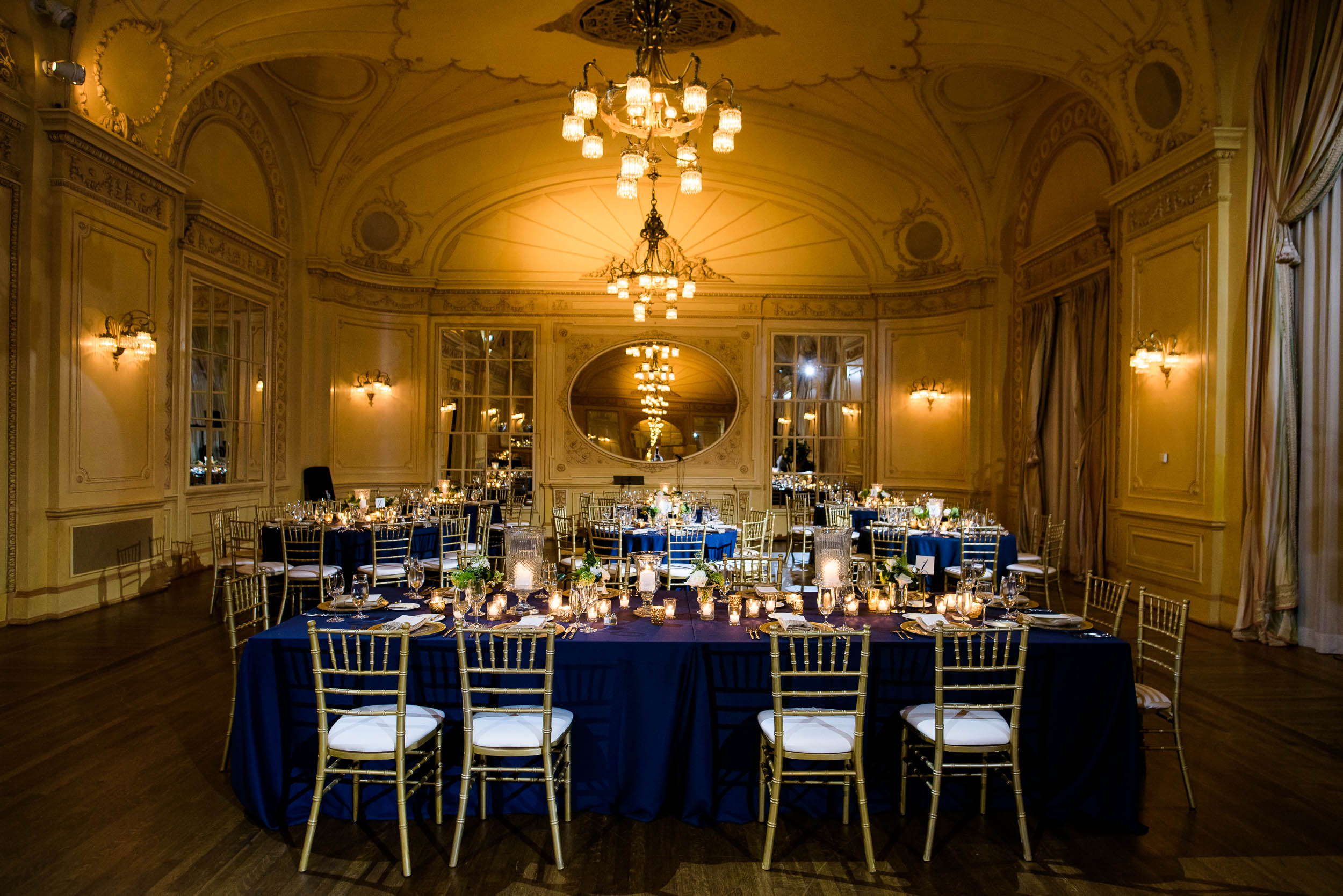 Wedding reception decor for luxurious fall wedding at the Chicago Symphony Center captured by J. Brown Photography. See more wedding ideas at jbrownphotography.com!
