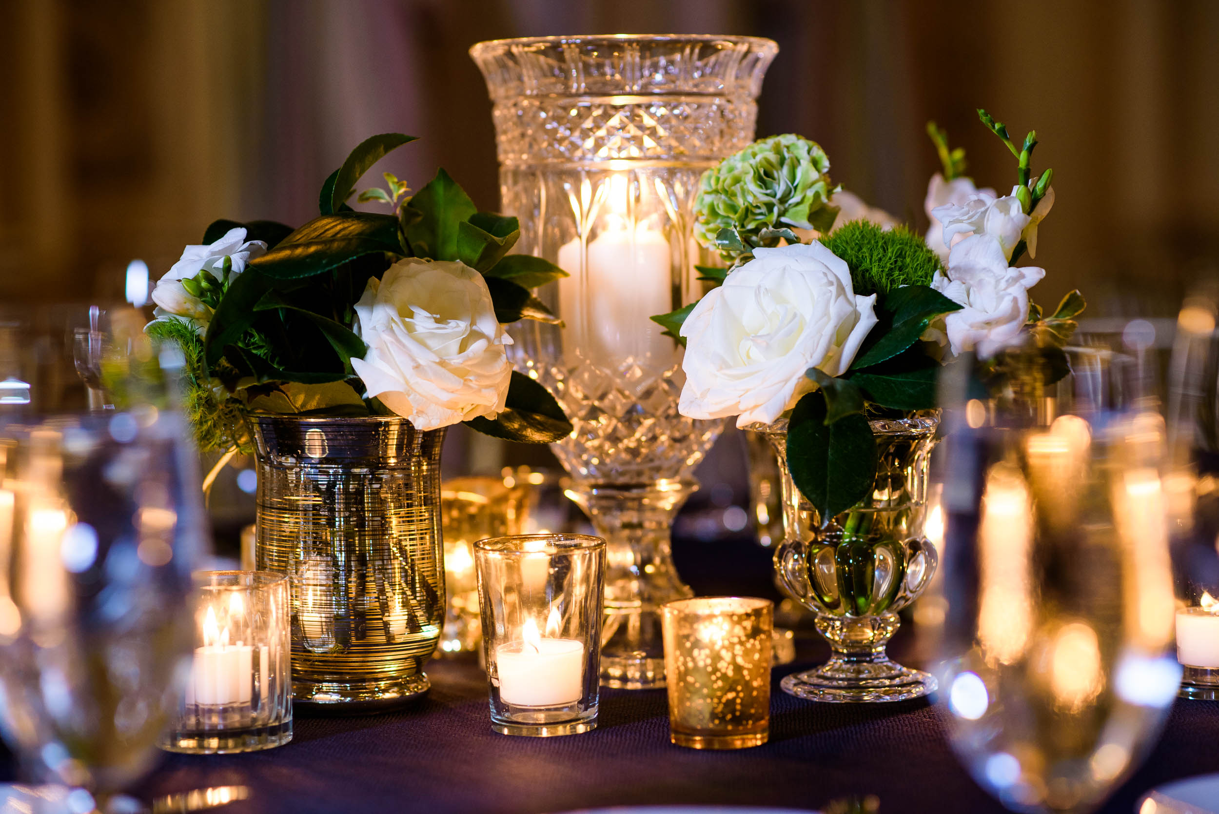 Wedding reception details for luxurious fall wedding at the Chicago Symphony Center captured by J. Brown Photography. See more wedding ideas at jbrownphotography.com!