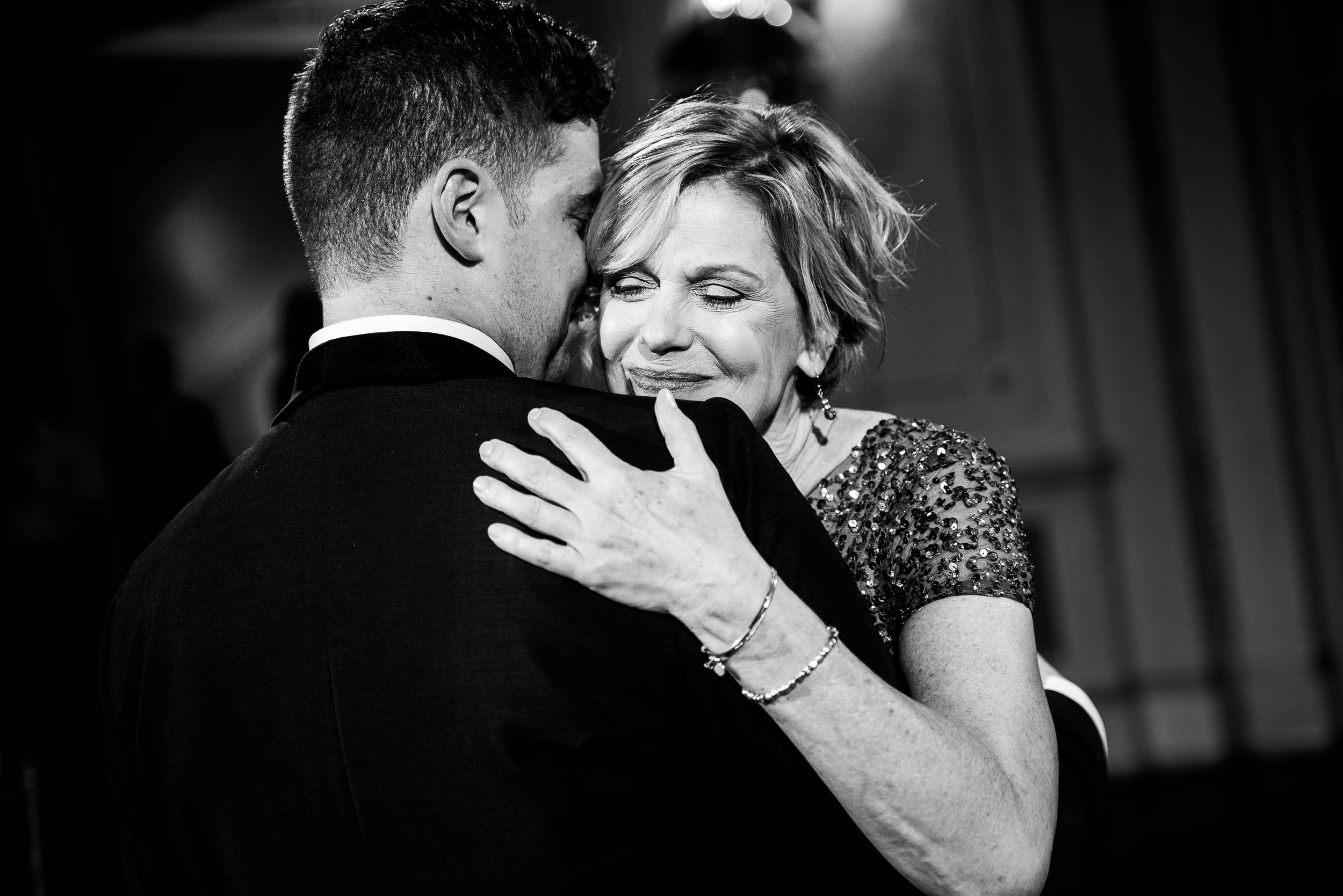 Mother/son dance for luxurious fall wedding at the Chicago Symphony Center captured by J. Brown Photography. See more wedding ideas at jbrownphotography.com!