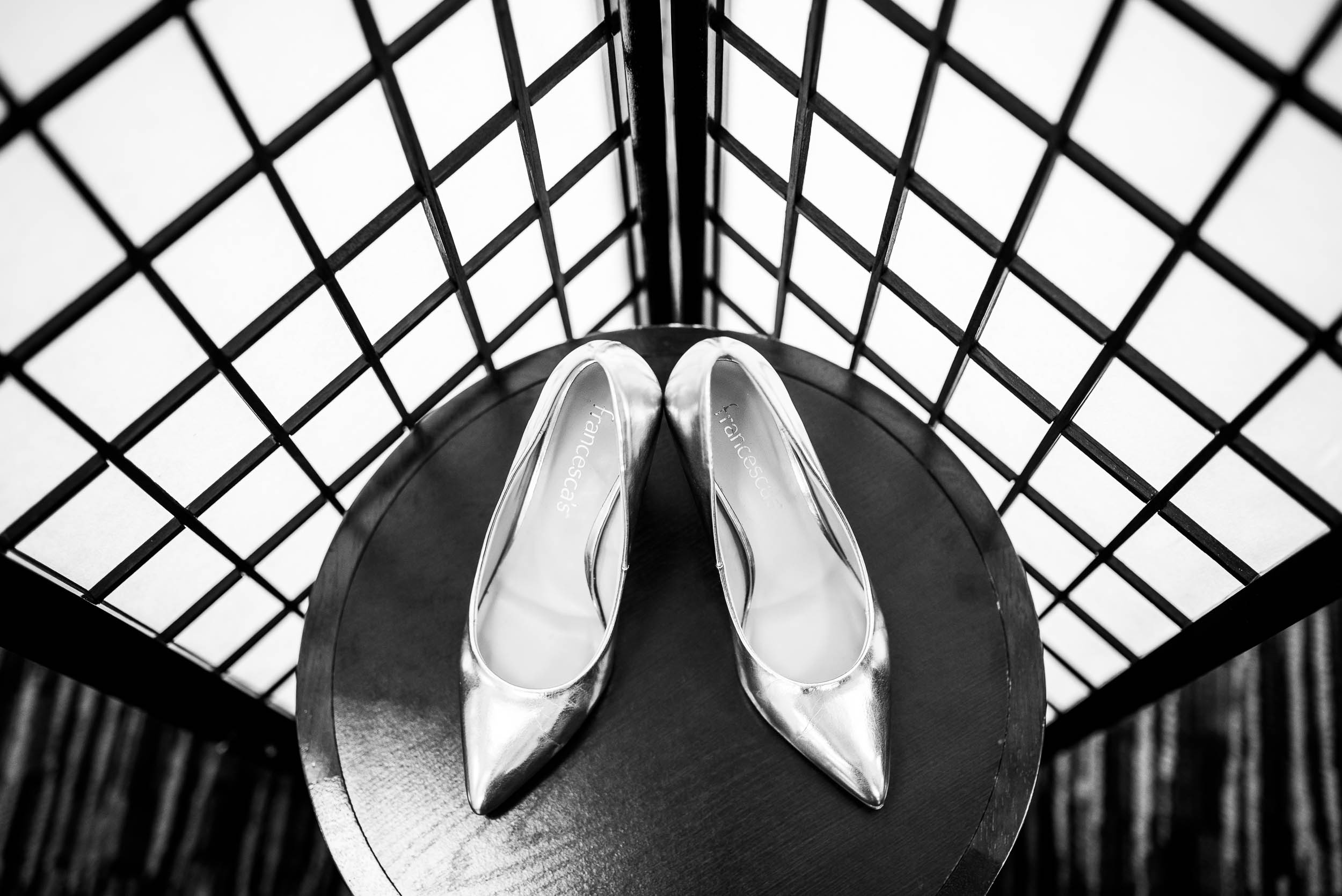 Bridal Shoes: Modern industrial Chicago wedding inside Prairie Street Brewhouse captured by J. Brown Photography. Find more wedding ideas at jbrownphotography.com!