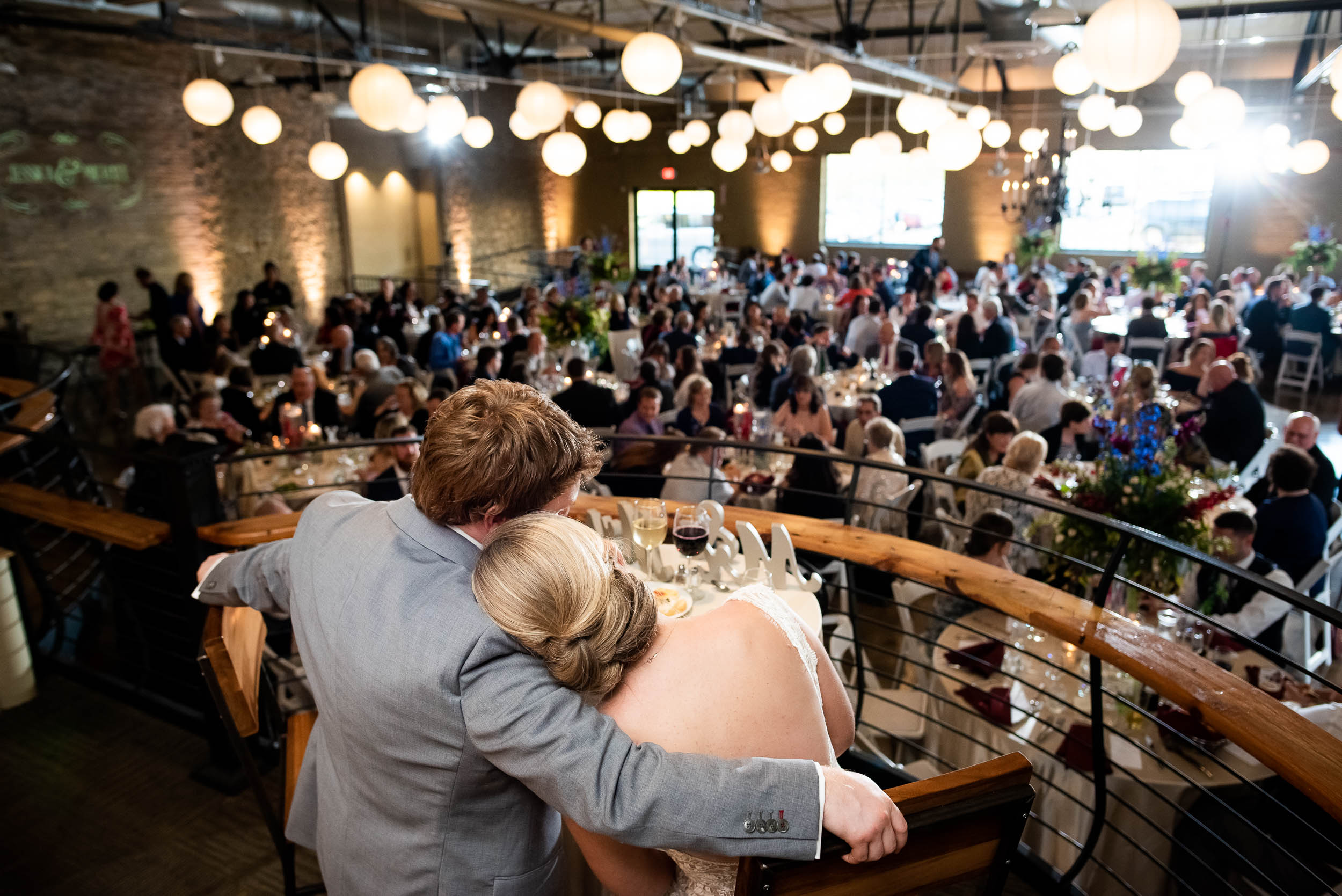 Brewhouse wedding venue: Modern industrial Chicago wedding inside Prairie Street Brewhouse captured by J. Brown Photography. Find more wedding ideas at jbrownphotography.com!