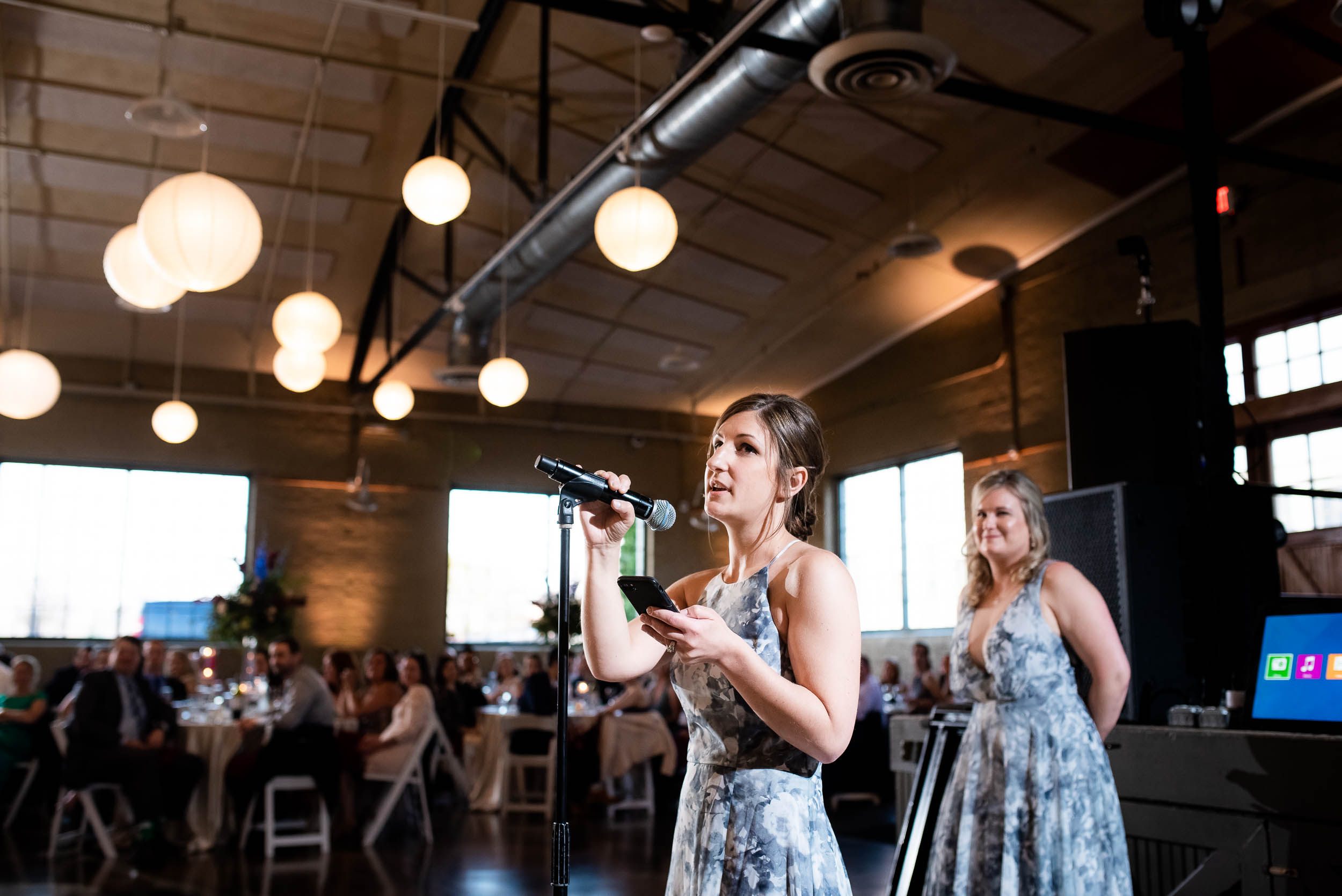 Wedding speeches: Modern industrial Chicago wedding inside Prairie Street Brewhouse captured by J. Brown Photography. Find more wedding ideas at jbrownphotography.com!