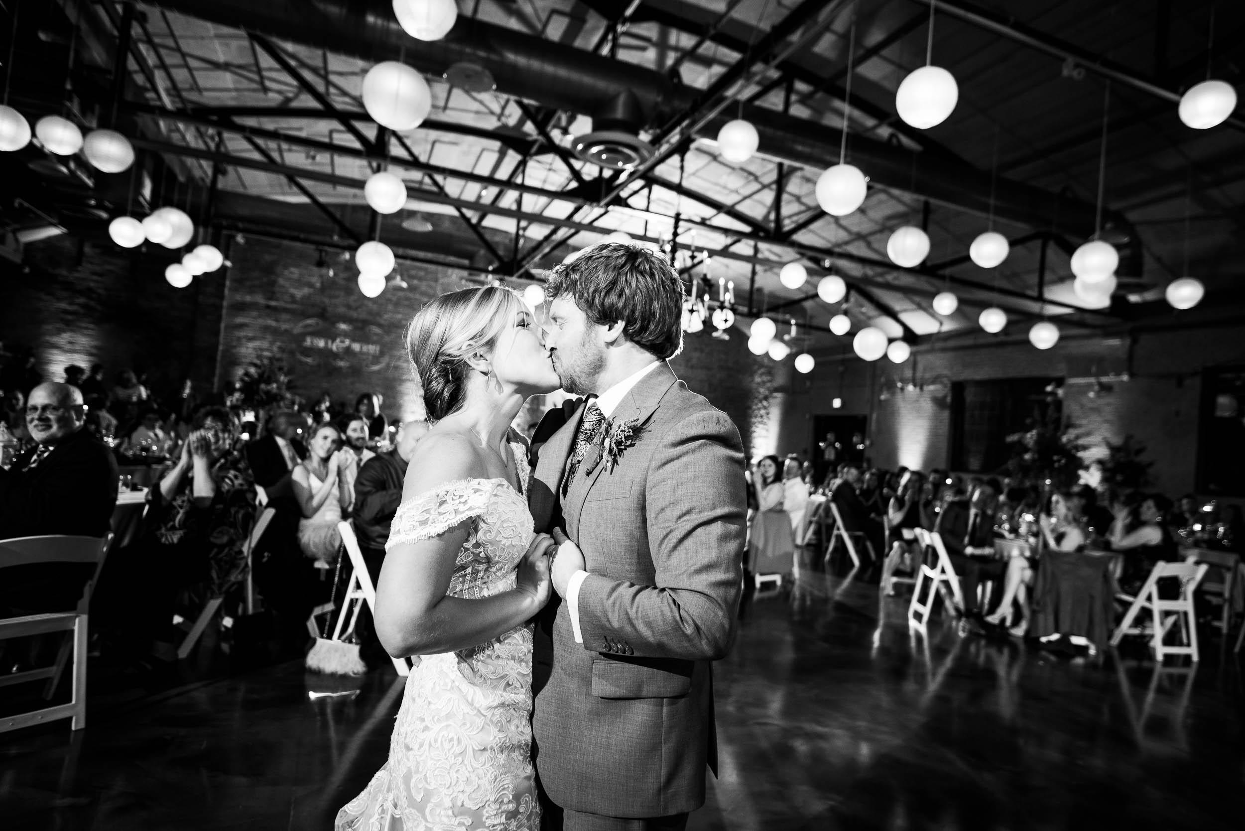 Modern industrial Chicago wedding inside Prairie Street Brewhouse captured by J. Brown Photography. Find more wedding ideas at jbrownphotography.com!