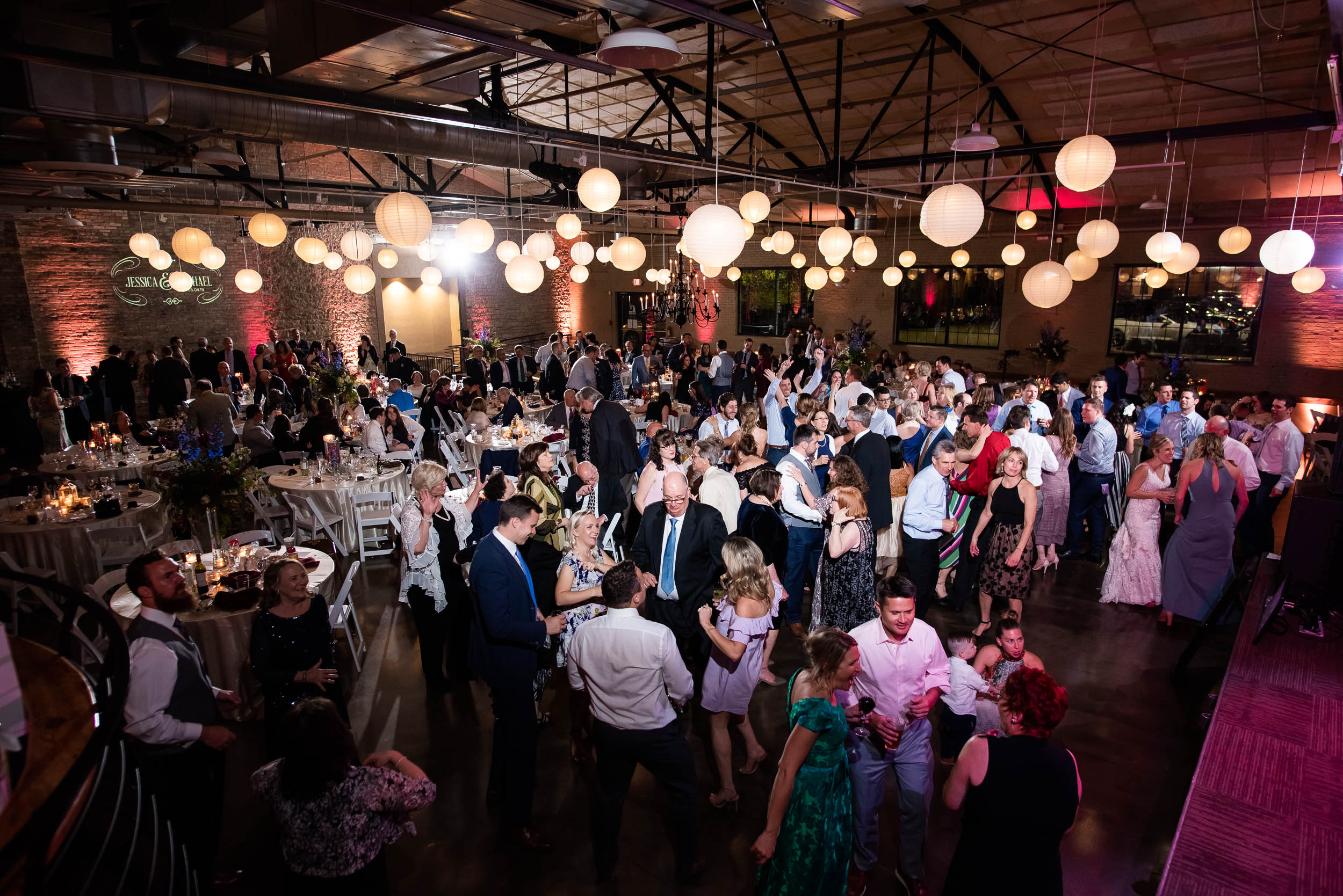 Brewhouse wedding celebration: Modern industrial Chicago wedding inside Prairie Street Brewhouse captured by J. Brown Photography. Find more wedding ideas at jbrownphotography.com!