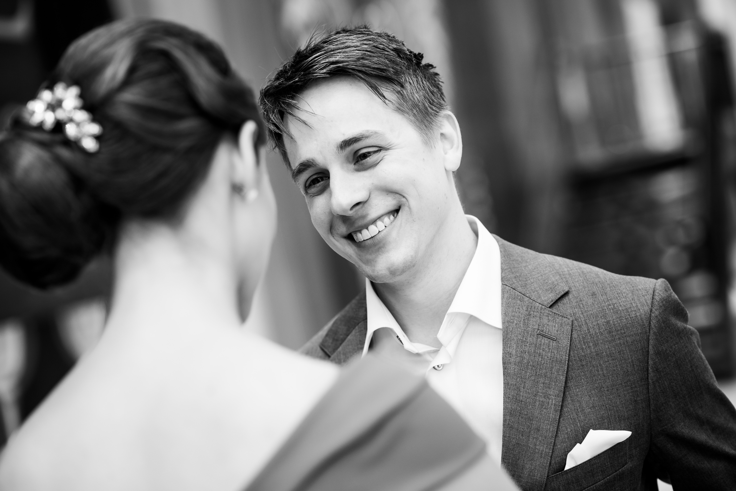 Black and white wedding photo: Carnivale Chicago wedding captured by J Brown Photography