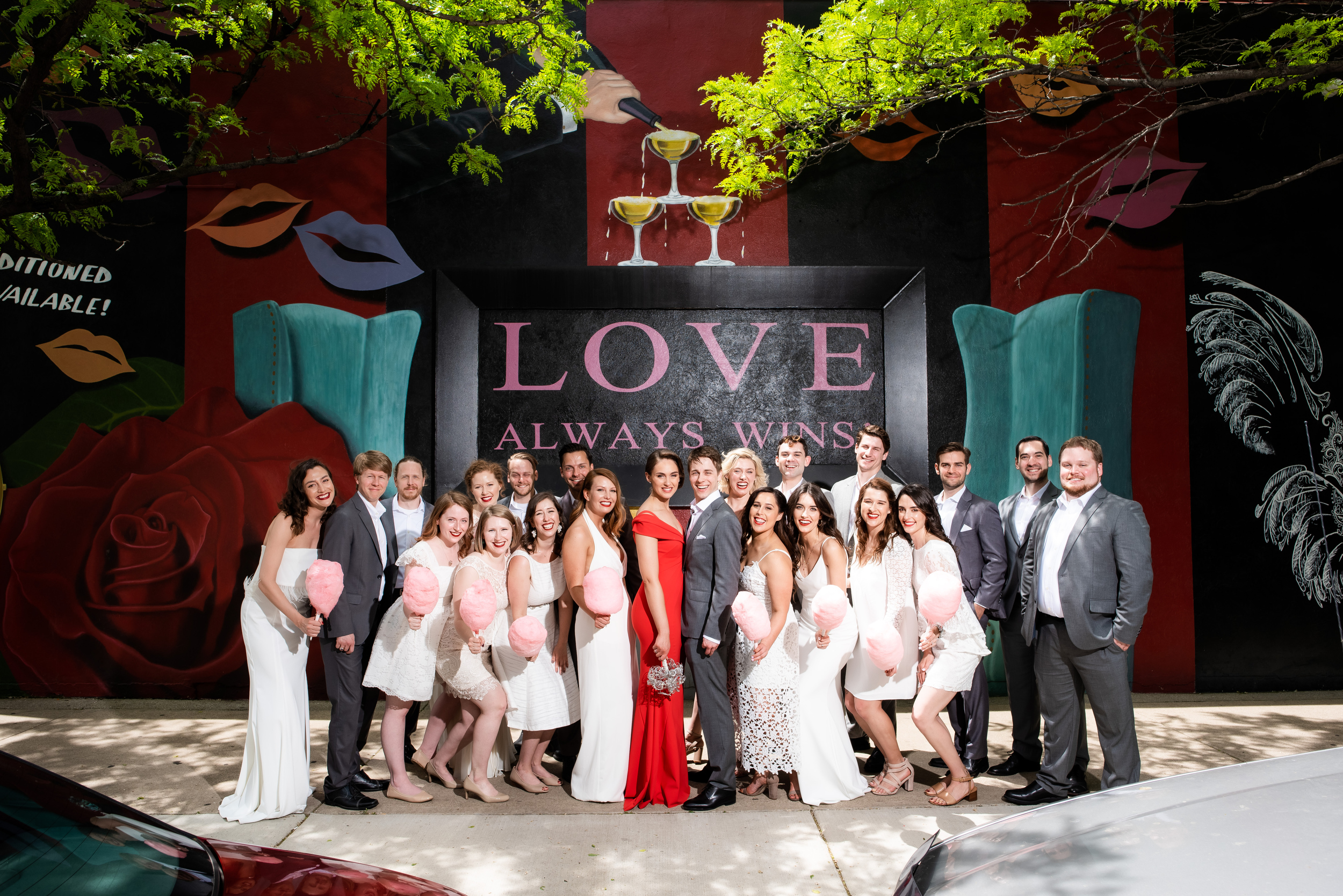 Outdoor wedding photos: Carnivale Chicago wedding captured by J Brown Photography