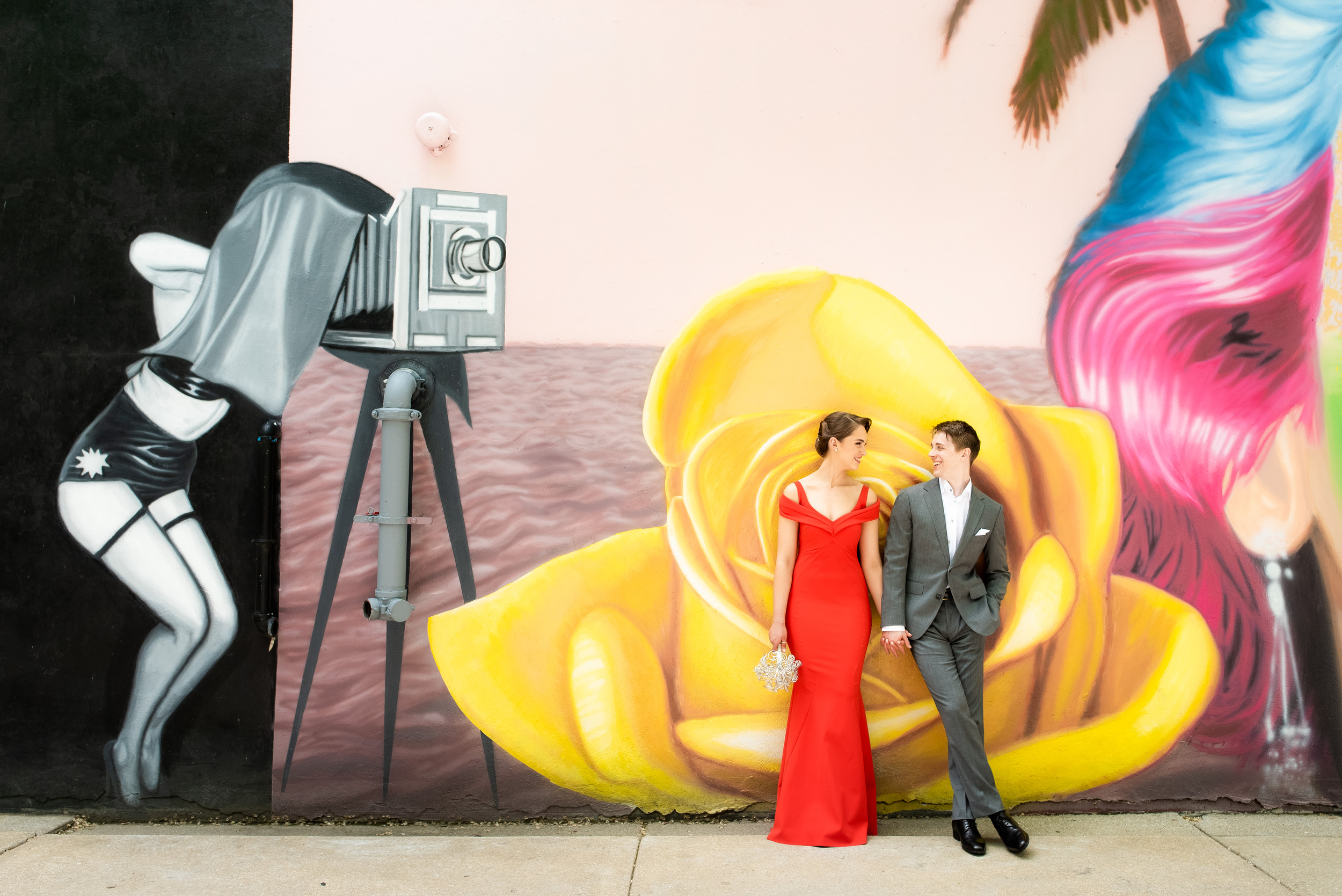 Non-traditional wedding ideas: Carnivale Chicago wedding captured by J Brown Photography