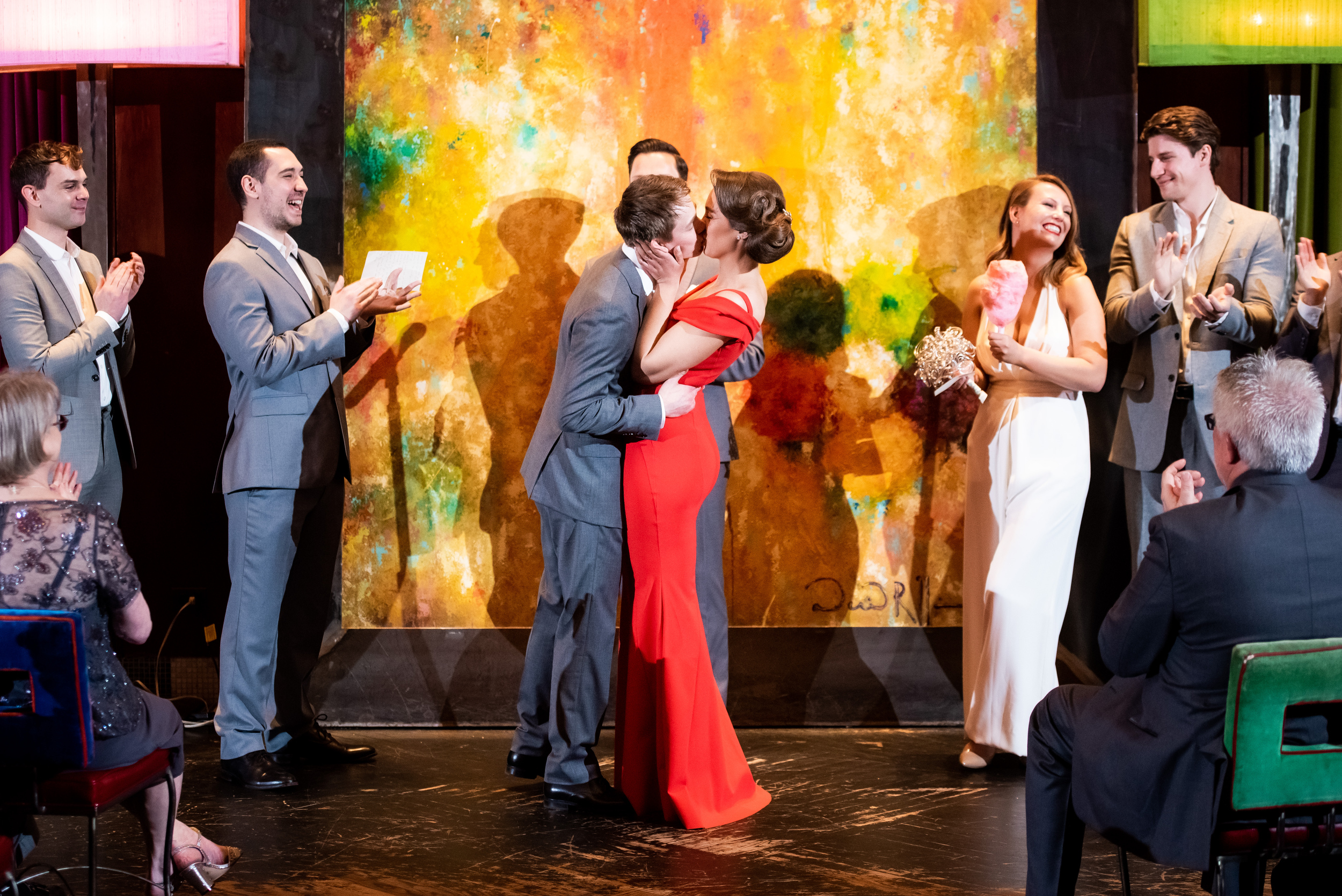 Colorful wedding ceremony venue: Carnivale Chicago wedding captured by J Brown Photography