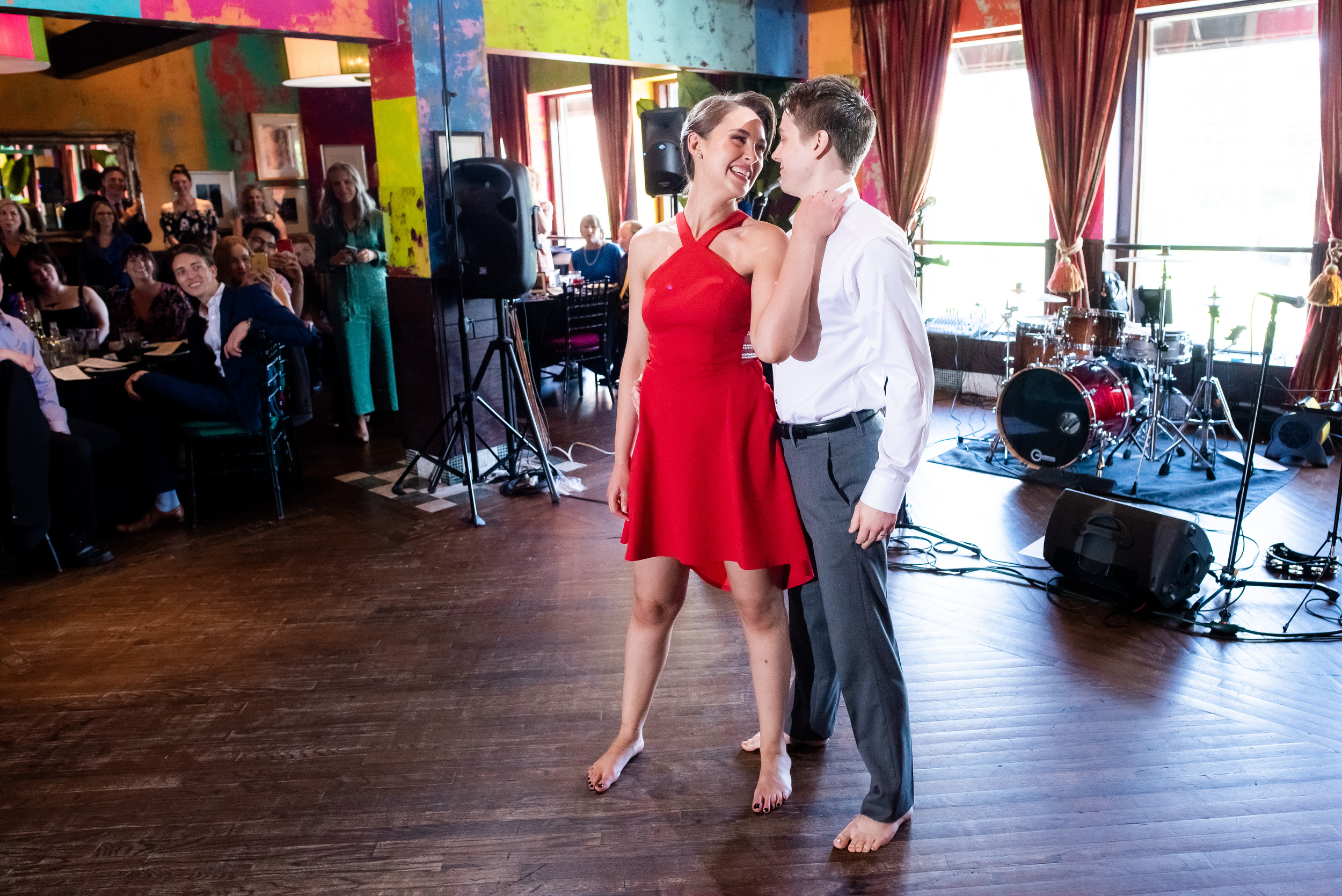 Wedding first dance: Carnivale Chicago wedding captured by J Brown Photography