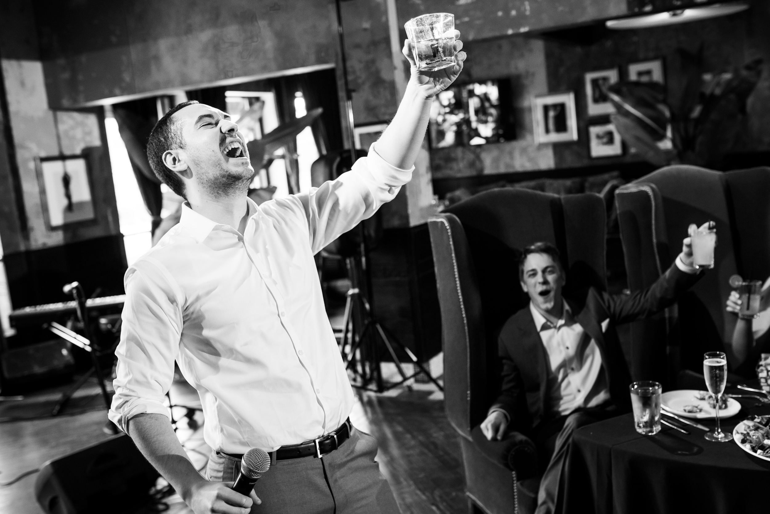 Wedding speech by best man at Carnivale Chicago wedding captured by J Brown Photography