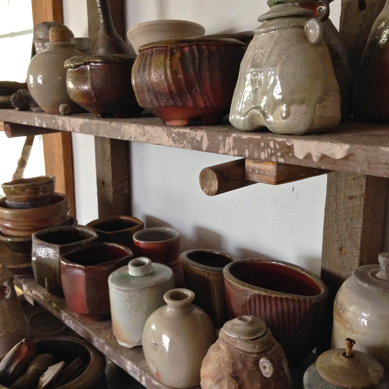 Rand Heazlitt pots made in his Corydon, IN studio