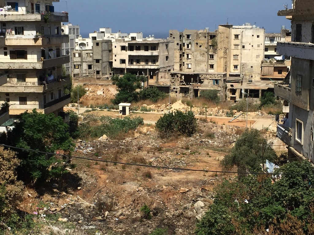 The neighborhood in Lebanon where the Sadalsuud Foundation's school is located, now gearing up for a girl's literacy course in December.