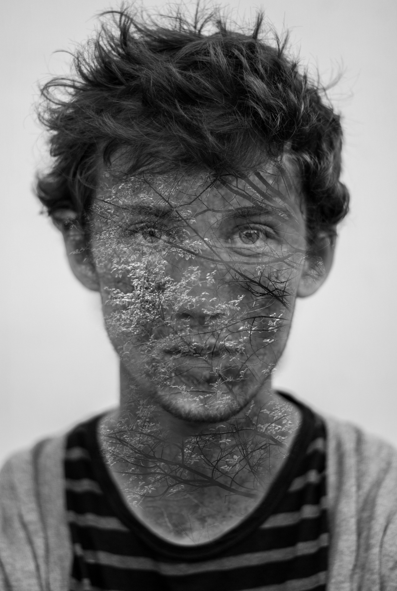 My first attempt at a trendy double exposure self portrait.
